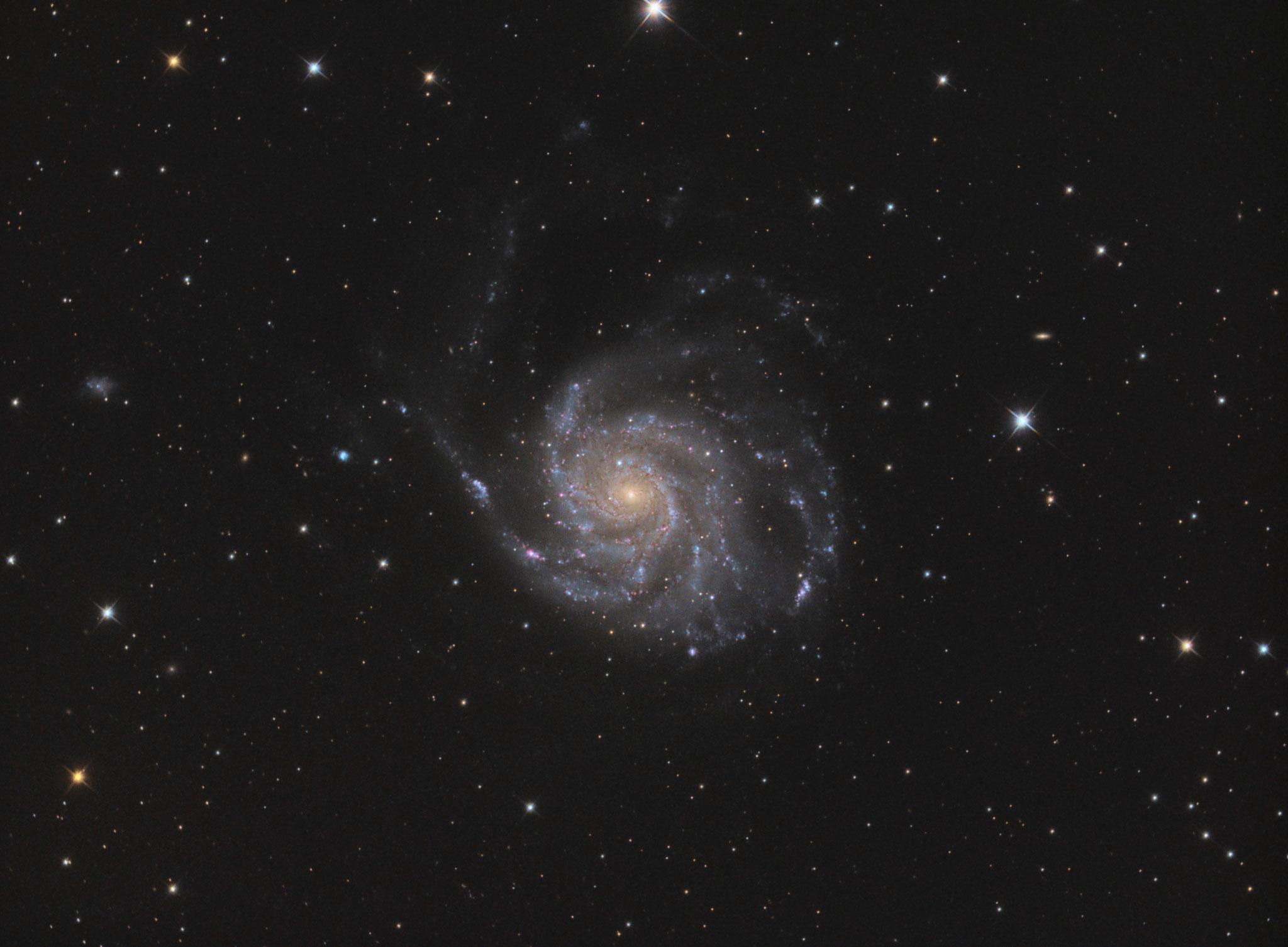 "M 101, TS RC8"", Astro Physics Reducer, ASI1600MMPro, L 122x180s, RGB je 20x180s, IDAS-LPS P2, Baader RGB Filter"