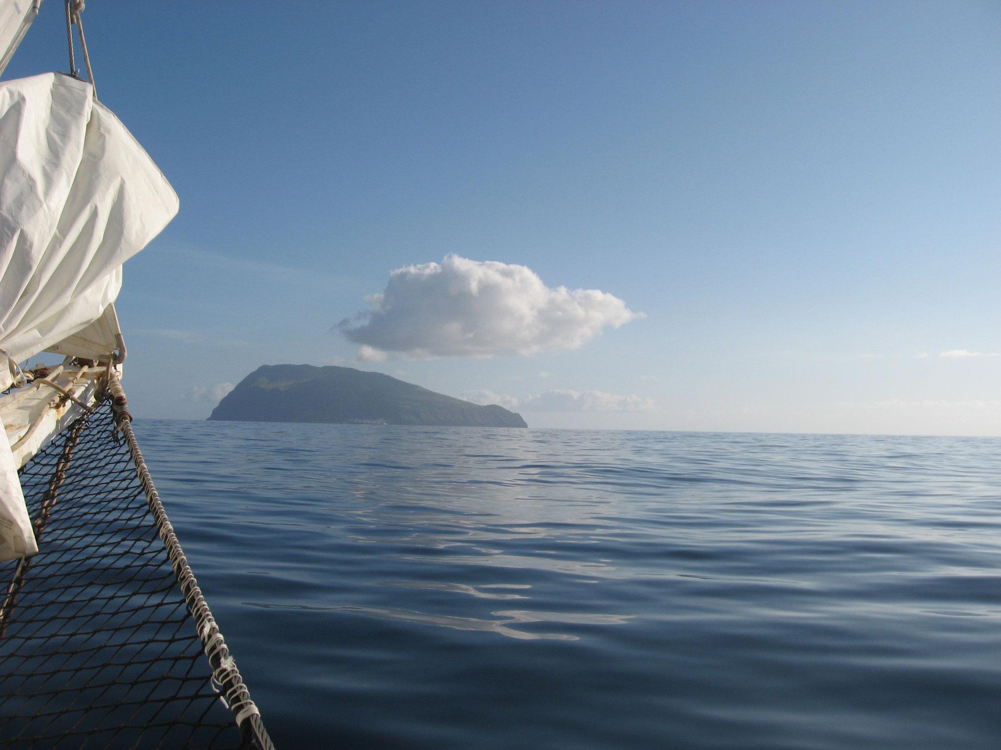 Arrivée à Corvo aux Açores