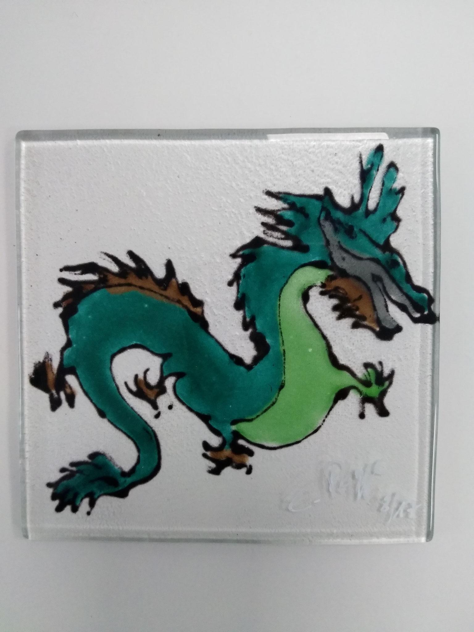 Glasuntersetzter 10x10cm