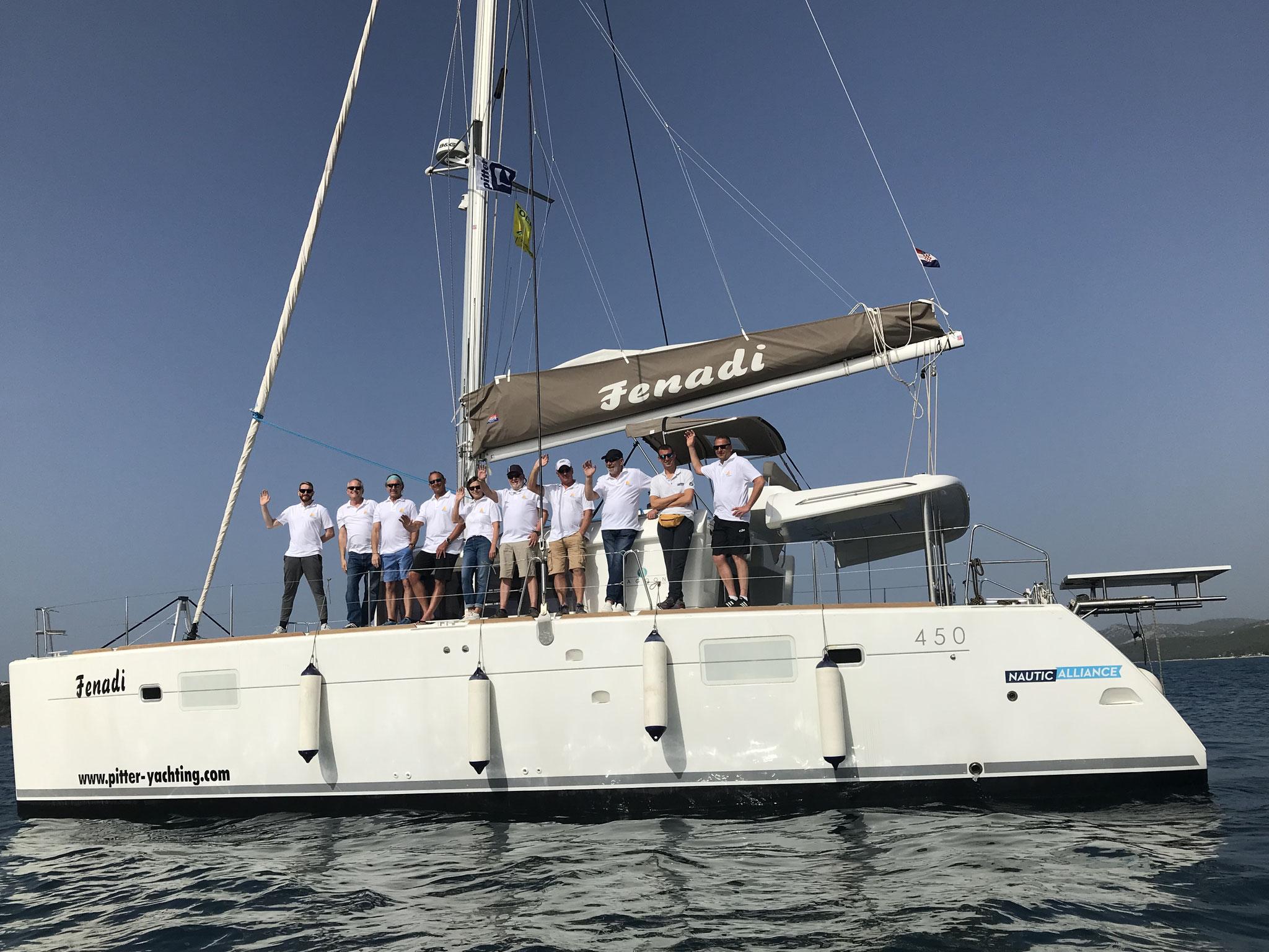 Katamarantraining für unsere Skipper Kroatien
