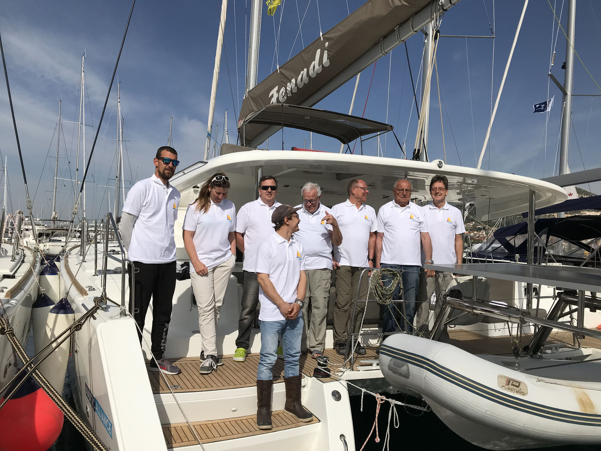 Skippertraining Katamaran Trogir Dalmatien