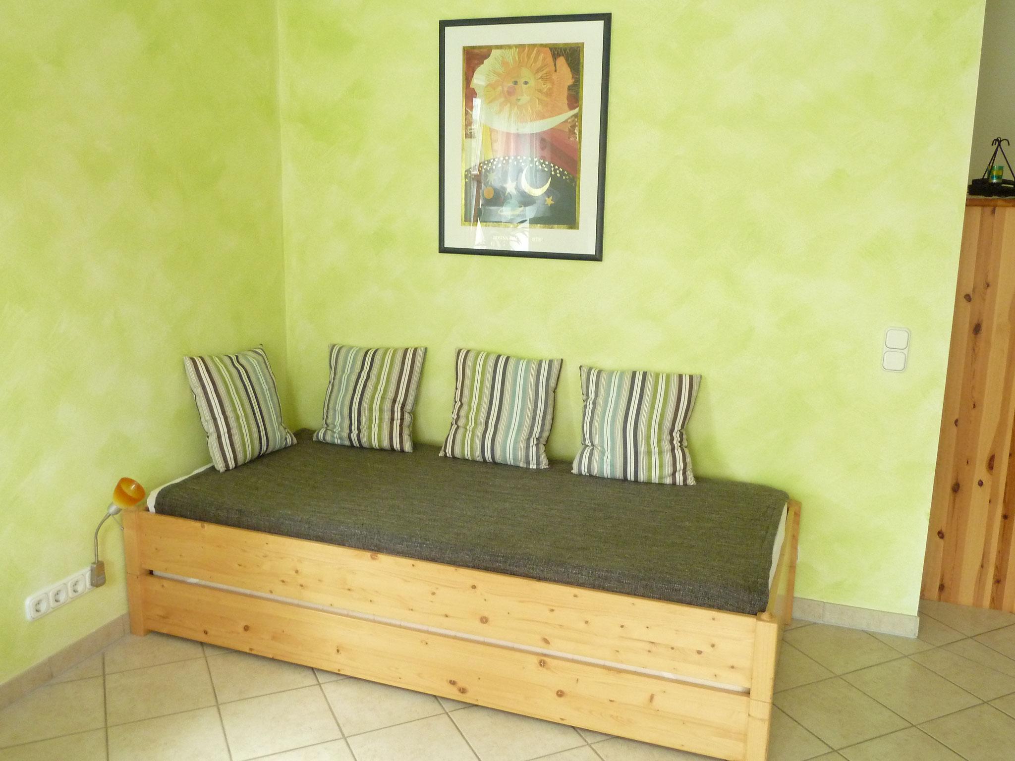 Stapelbett im Wohnzimmer