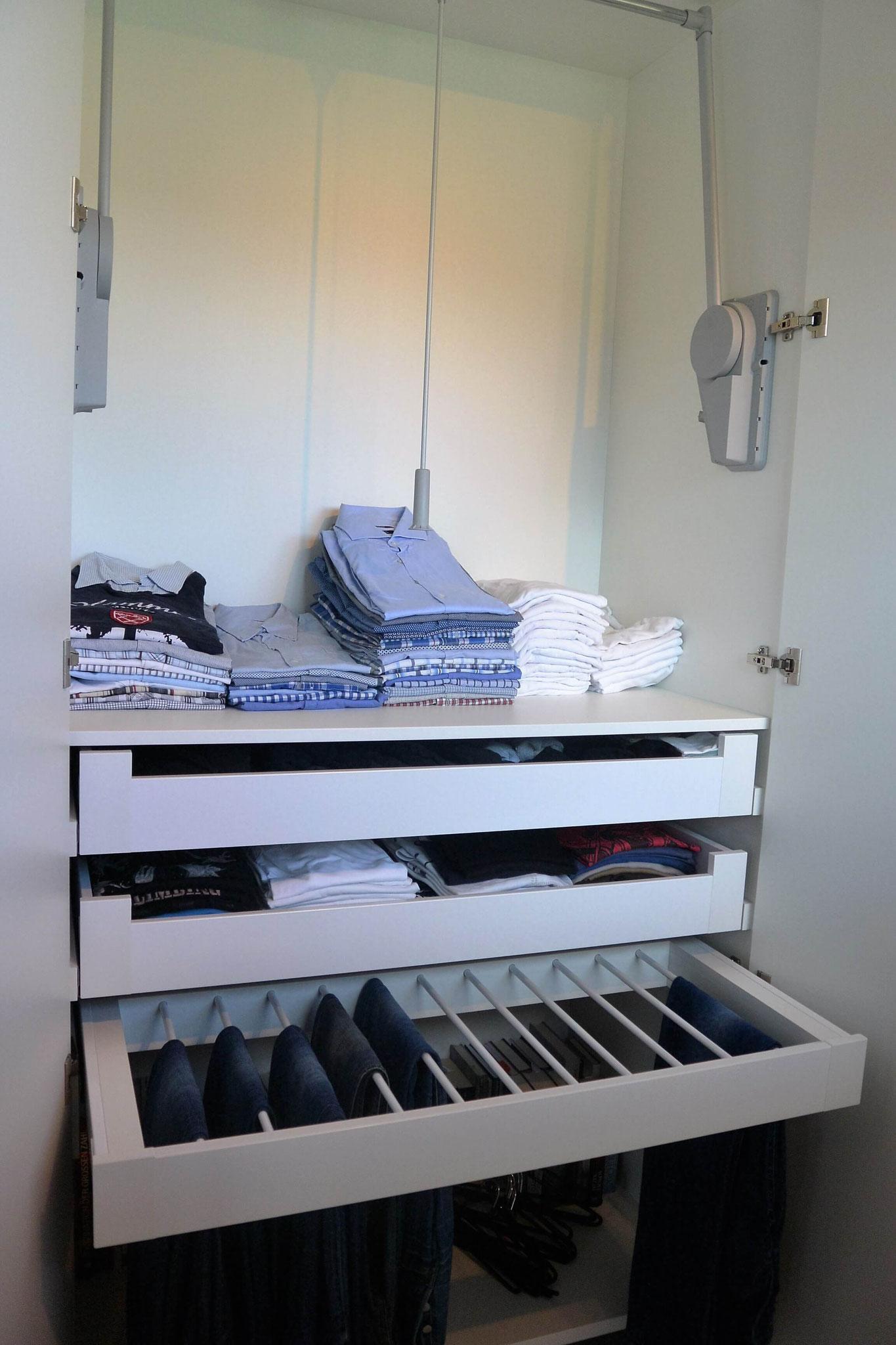 Kleiderlift für Hemden u. Hosenhalter für Jeans