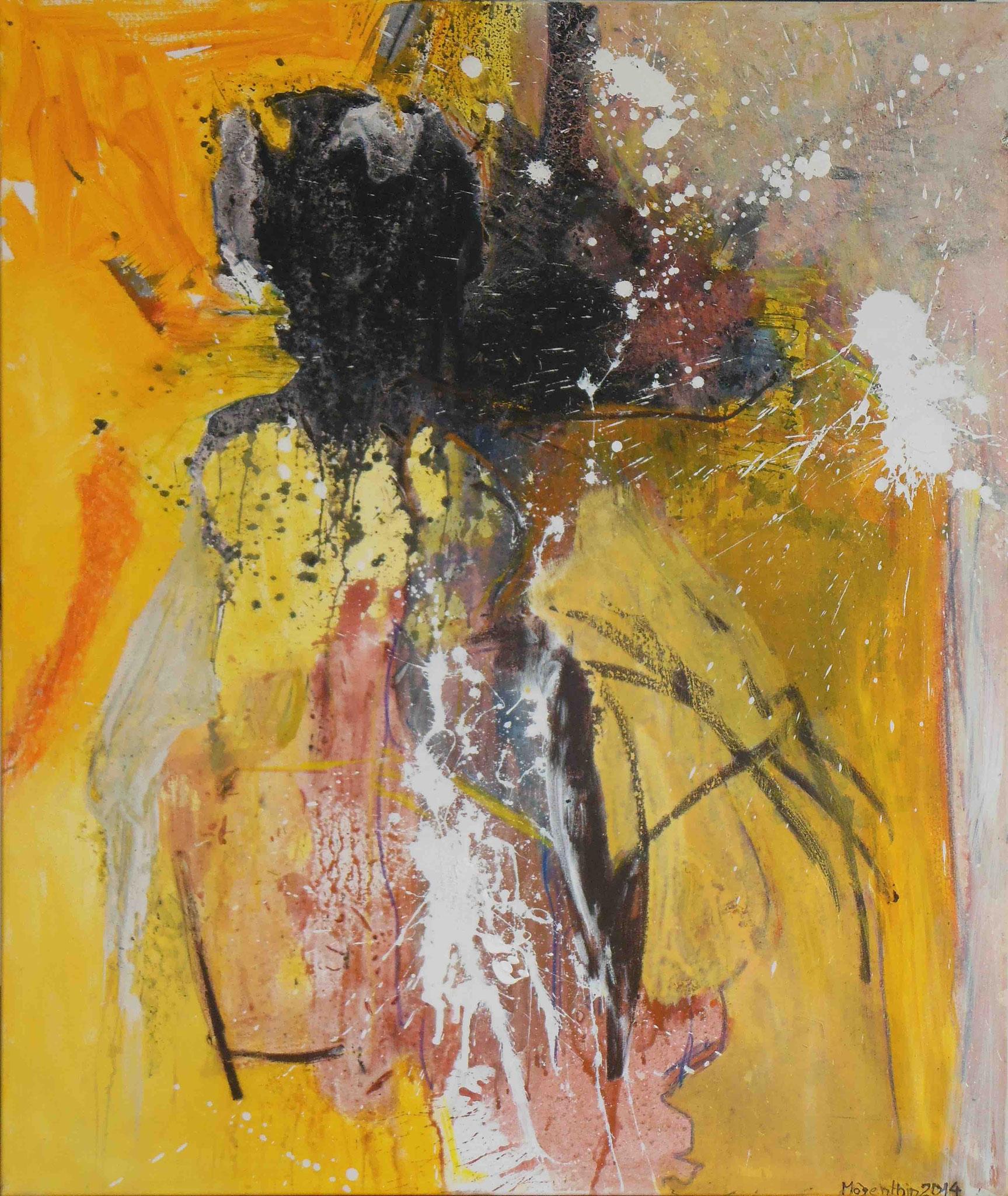 Das Leben geht weiter, 2014, 120x140cm, Mischtechnik / Leinwand