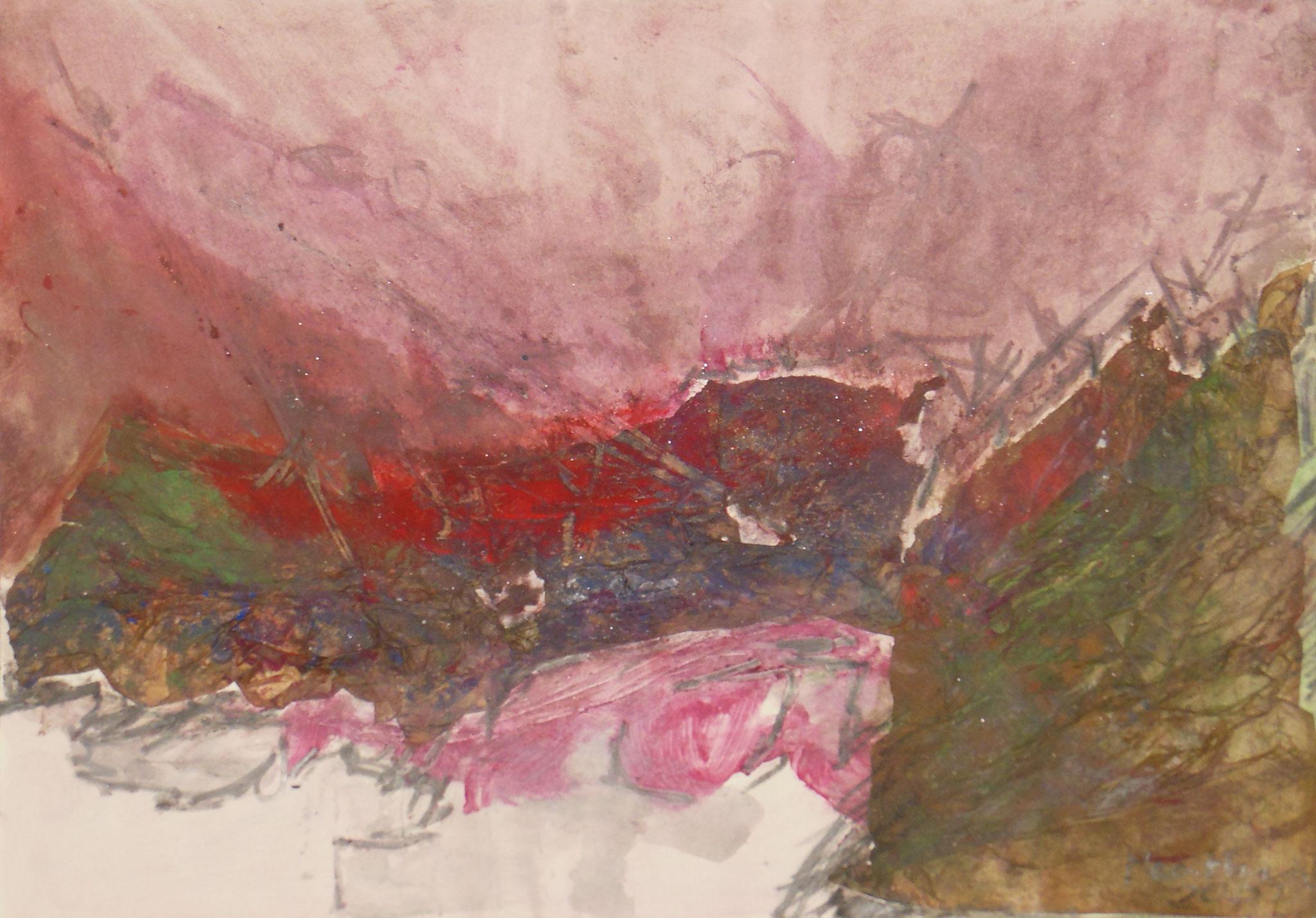 Cliff I, 2001, 58x41cm, Papier