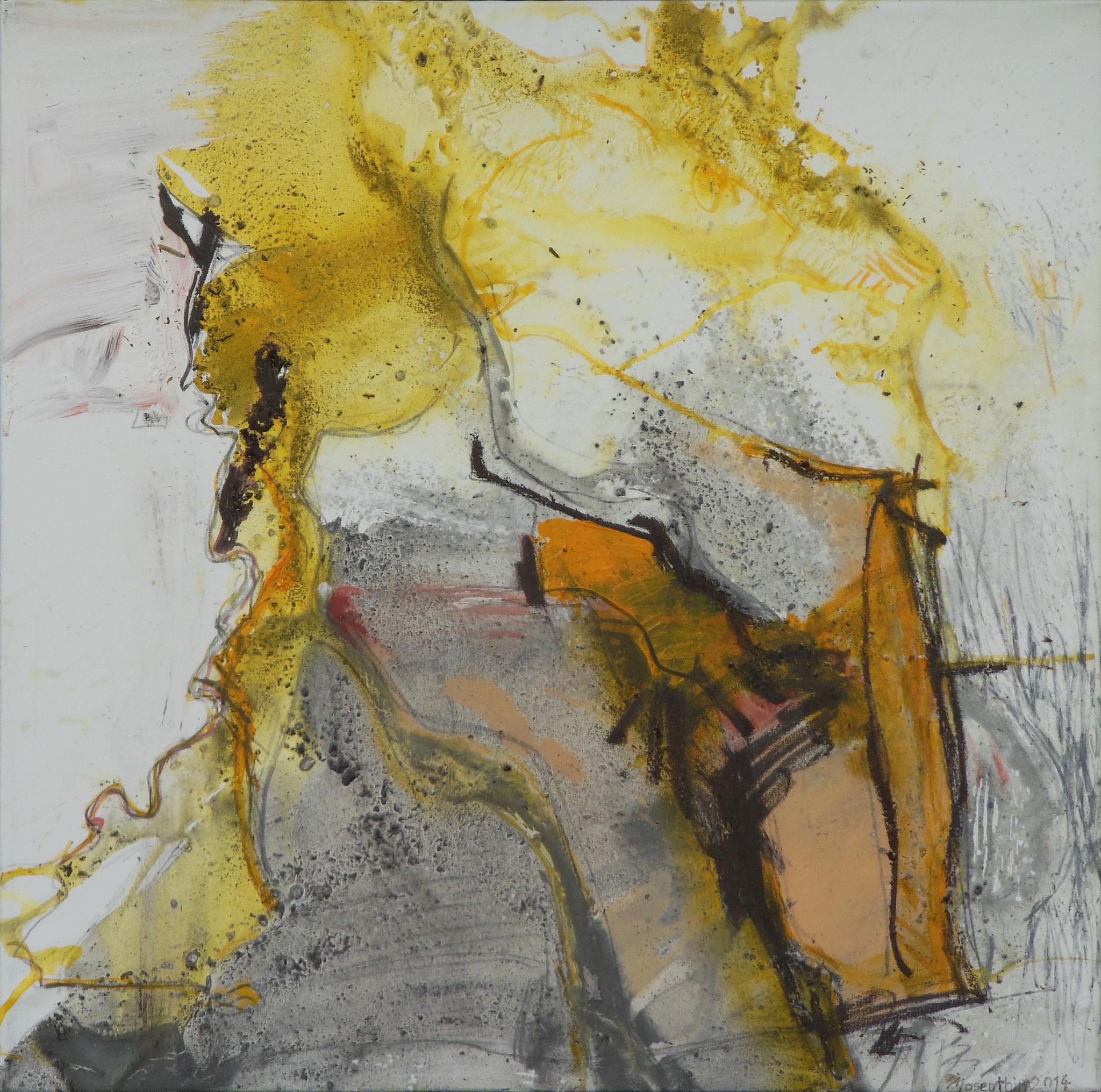 Porträt, 2014, 120x120cm, Mischtechnik / Leinwand