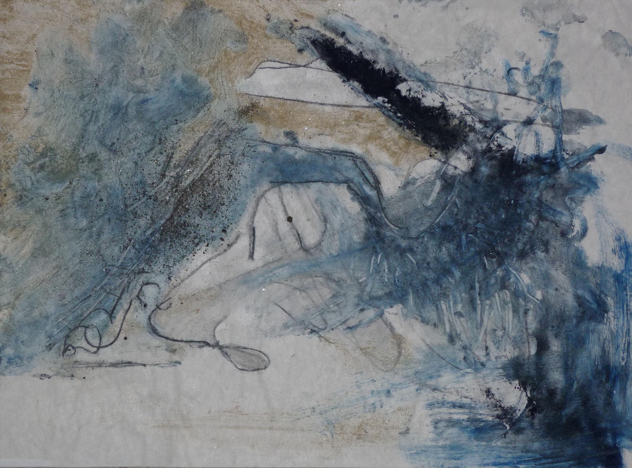 oT2, 2001, 50x37cm, Transparentpapier