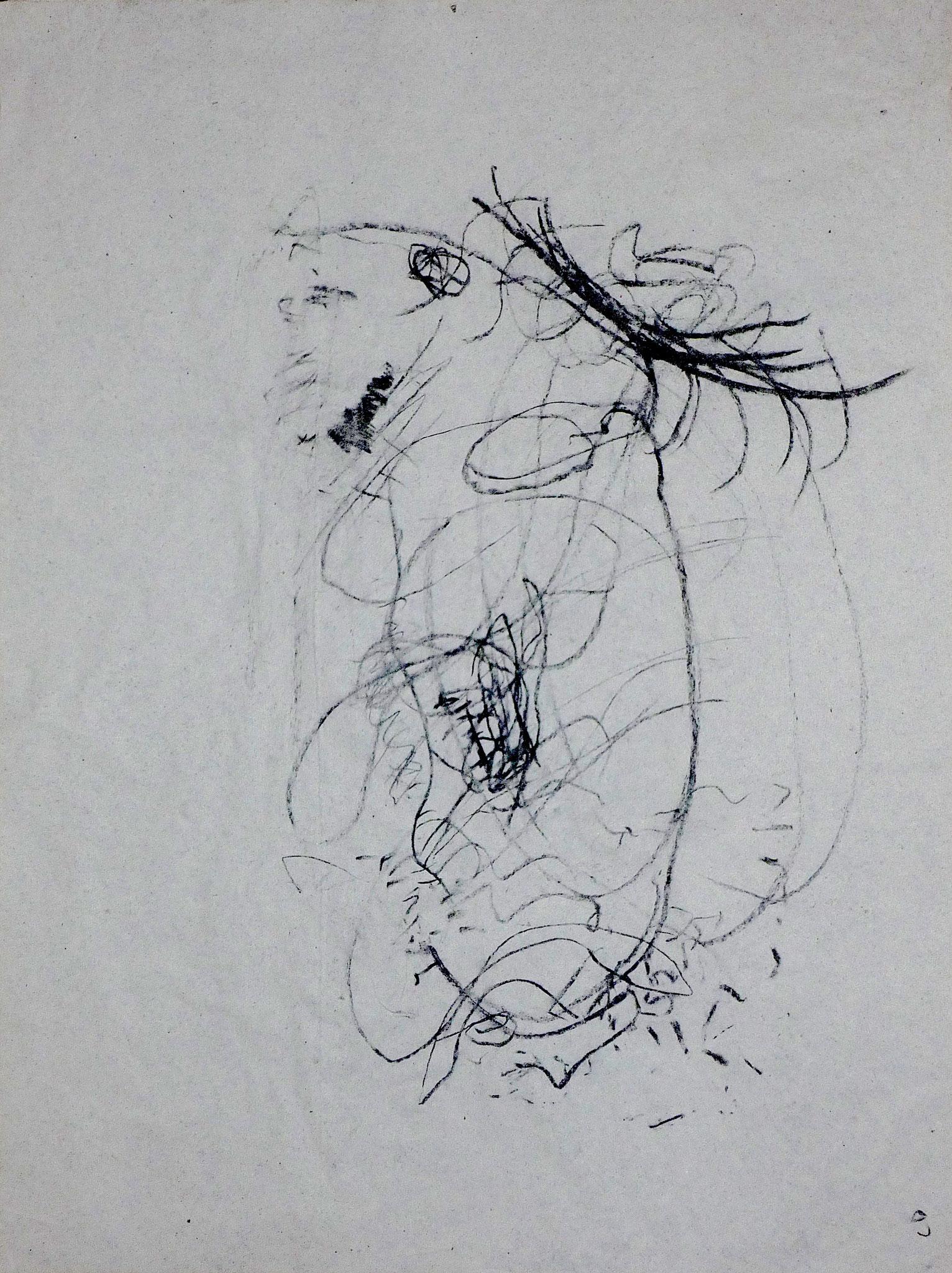 Mein Ohr I, 1999, 36x49, Graphit, Papier