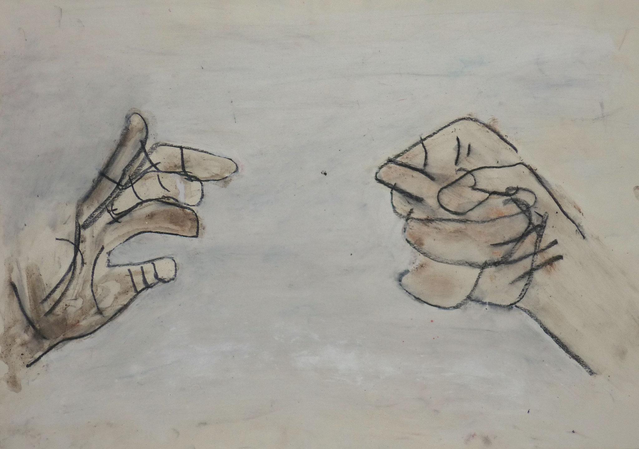 Handarbeit III, 2001, 58x42cm, Papier