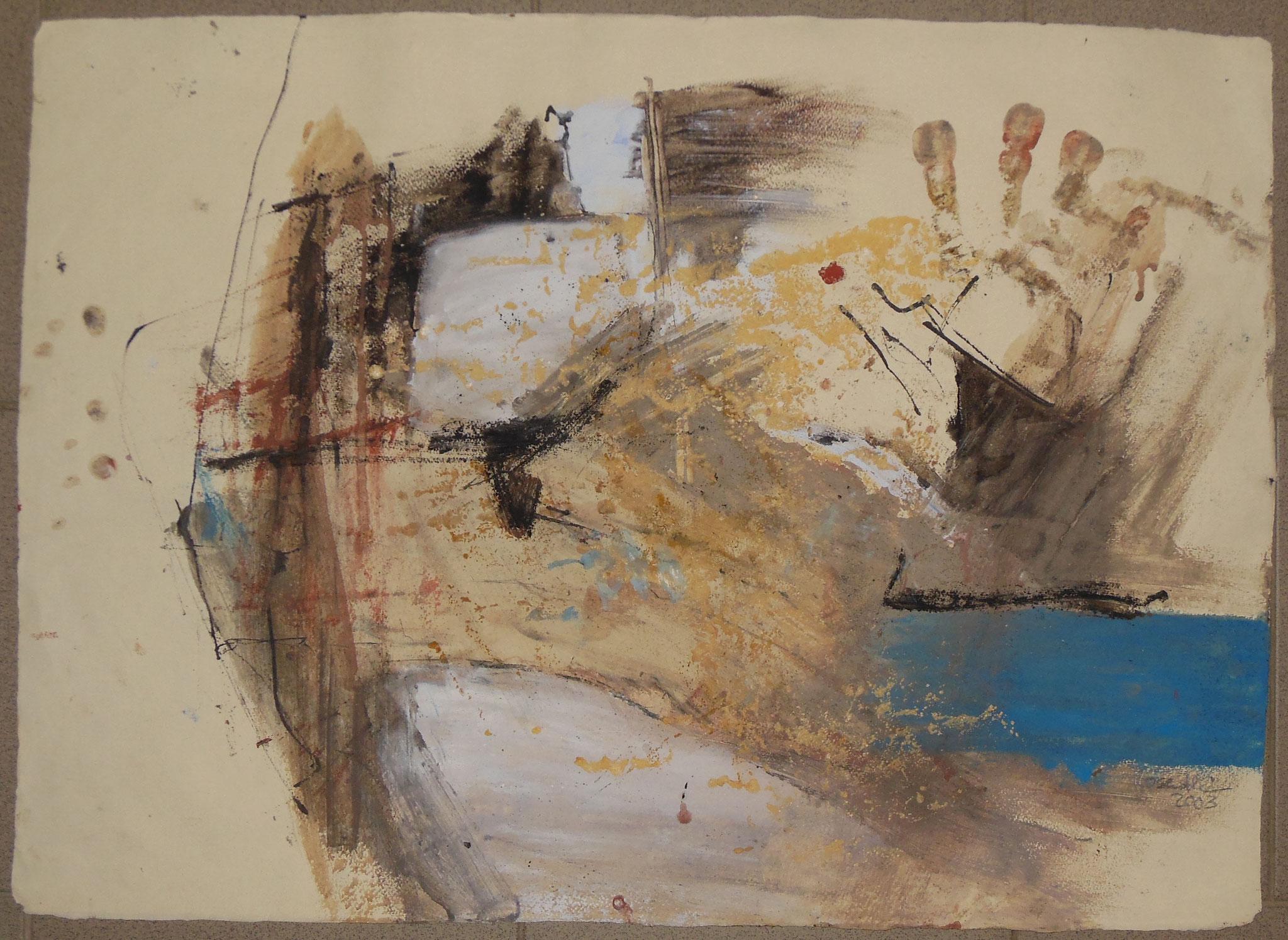 Hallo Baby, 1999, 72x55cm, Papier