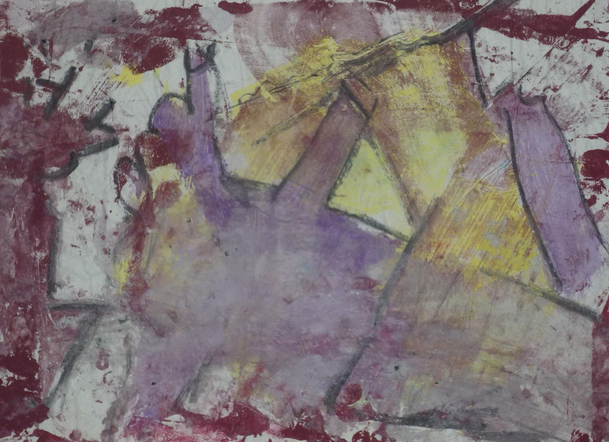 Kleine Monster V, 2001, 50x37, Transparentpapier