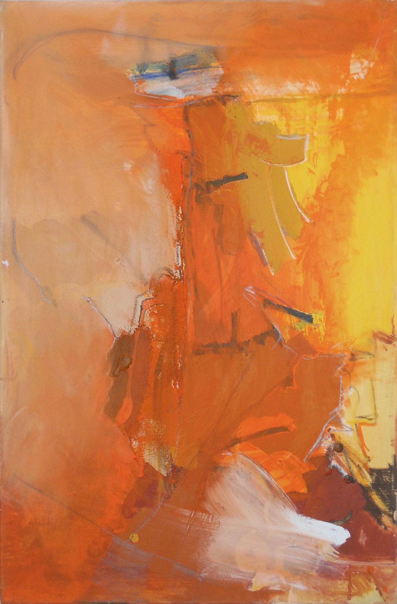 Sonne im Herzen, 2011, 80x120cm, Mischtechnik / Leinwand