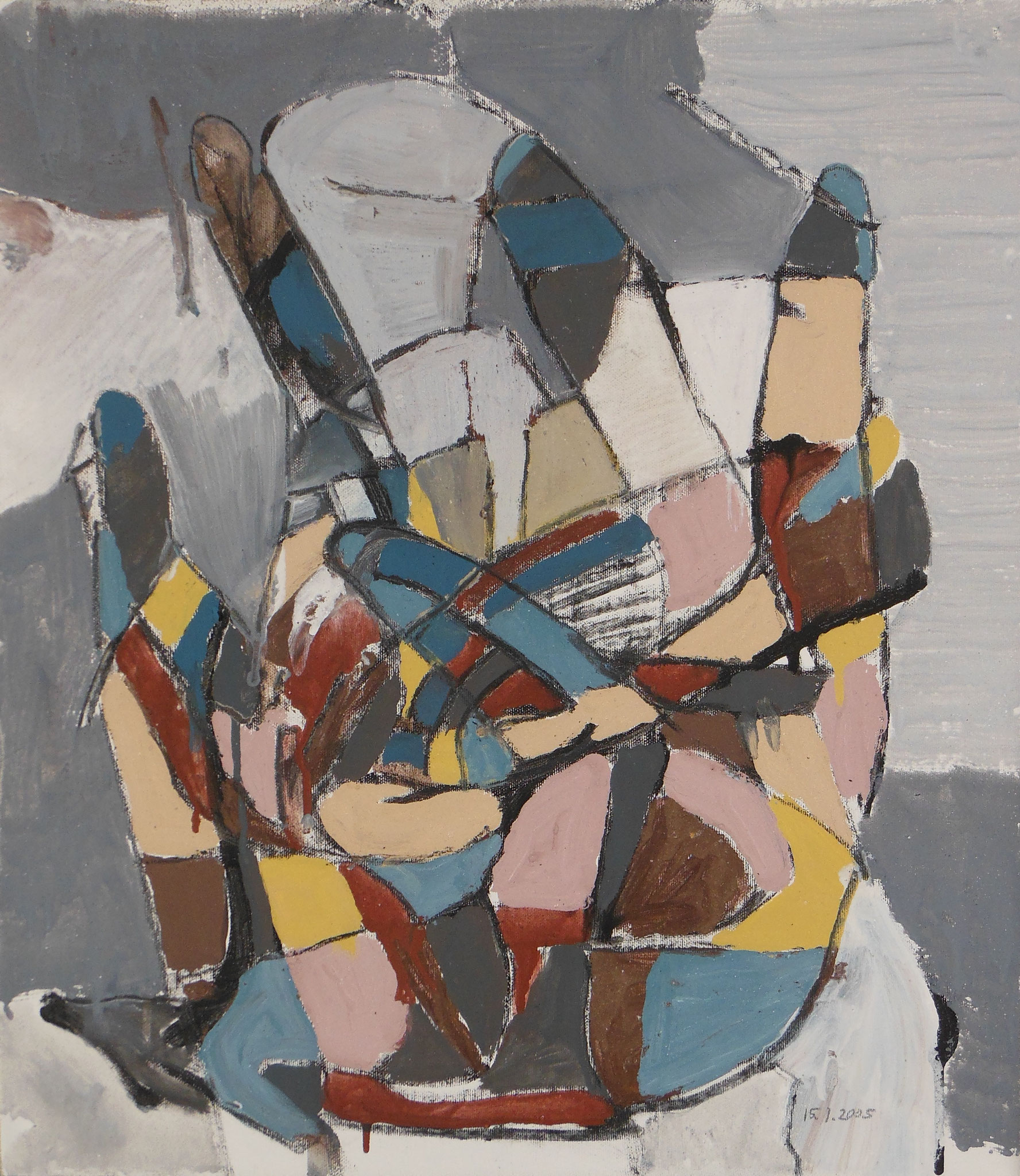 Handarbeit IV, 2005, 40x50, Leinwand