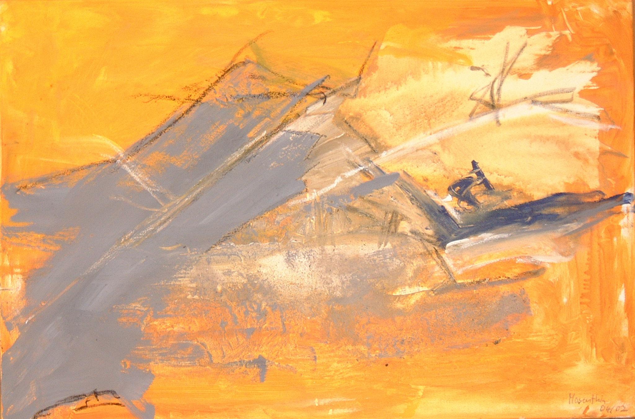 Fire & Ice, 2002, 90x60cm, Leinwand
