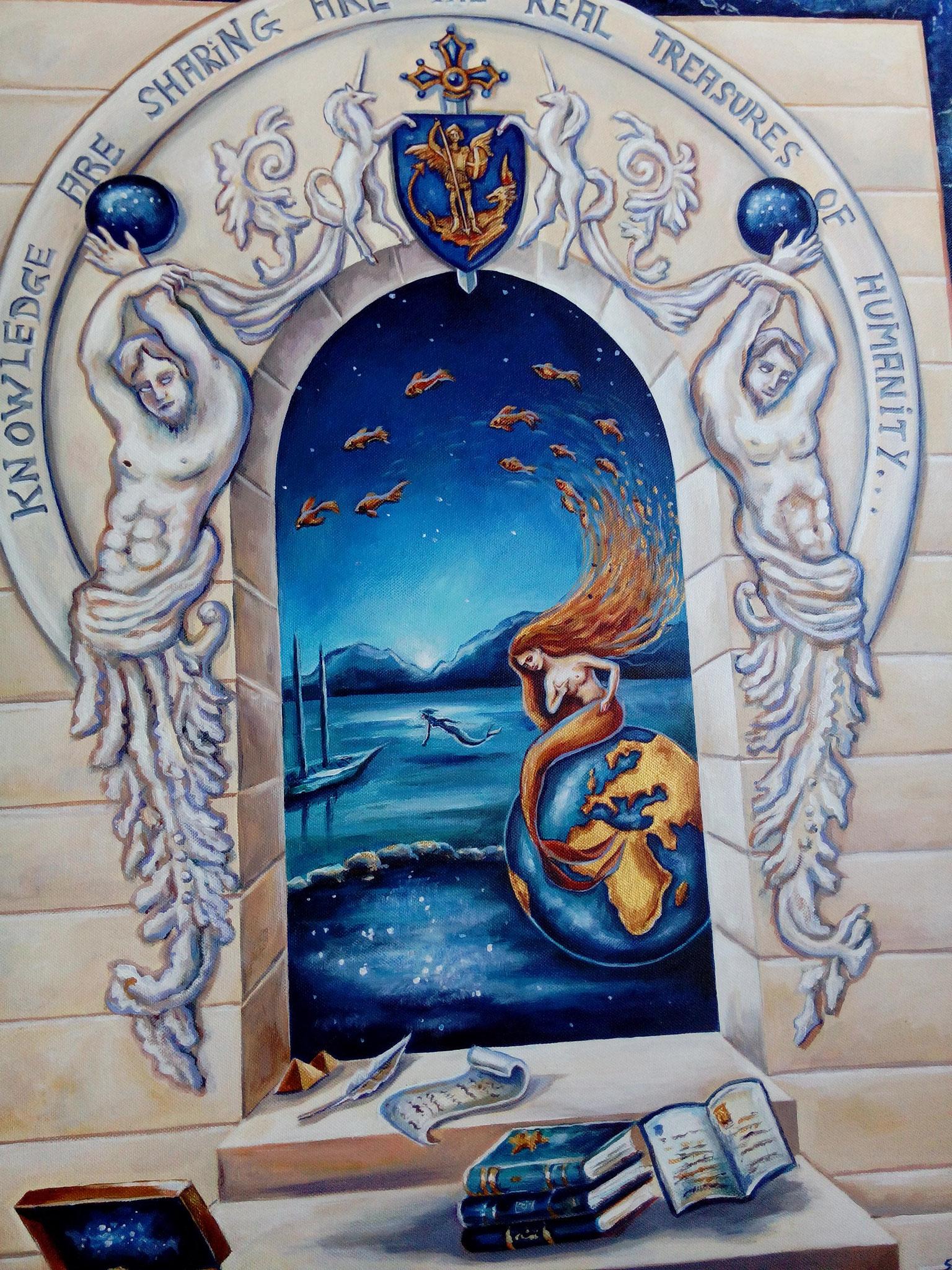 """Création """" La connaissance et le partage sont les vrai trésors de l'humanité"""""""