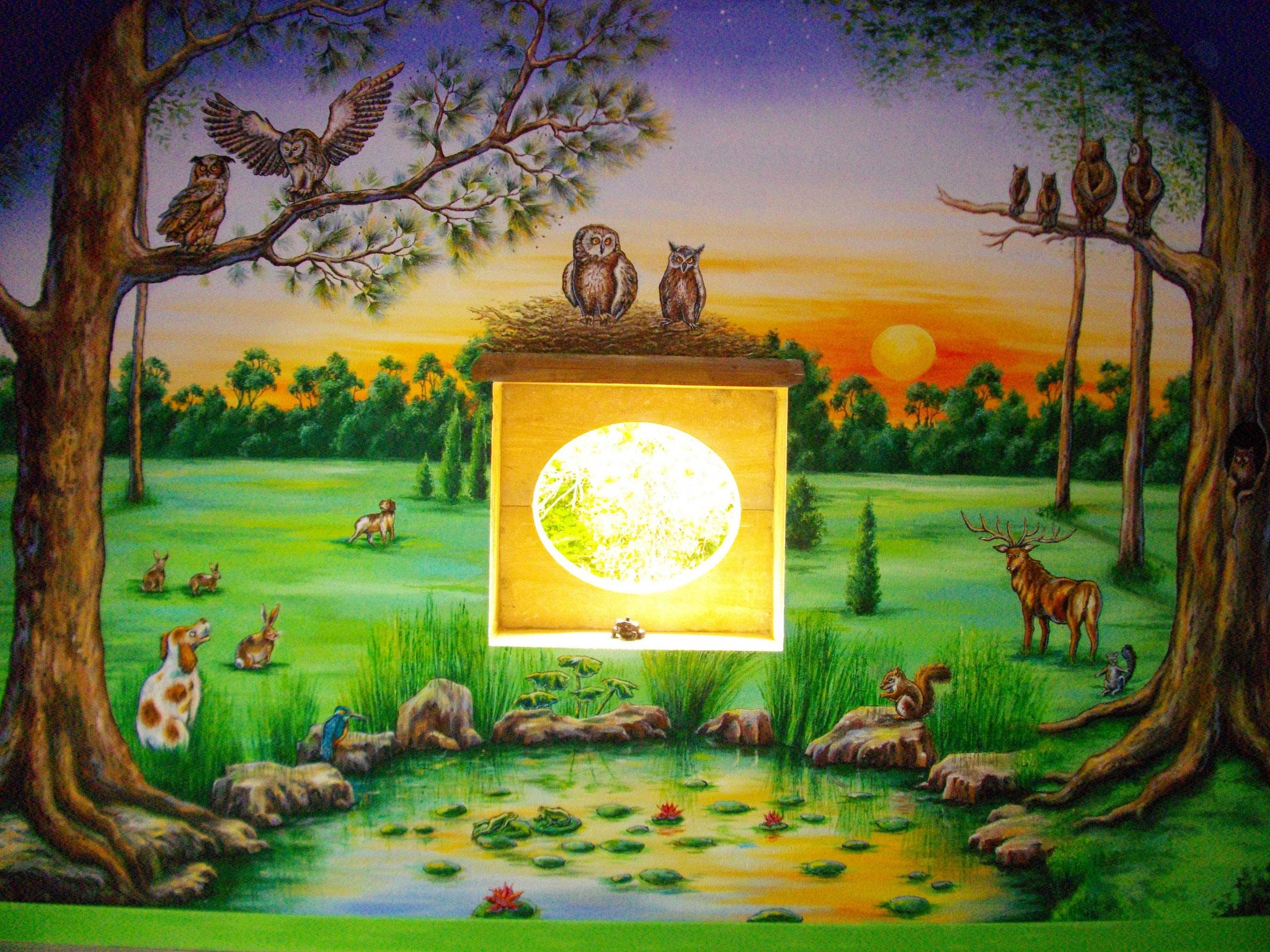 """Decor """"Petits animaux de la forêt"""" 5.50 X 3m"""