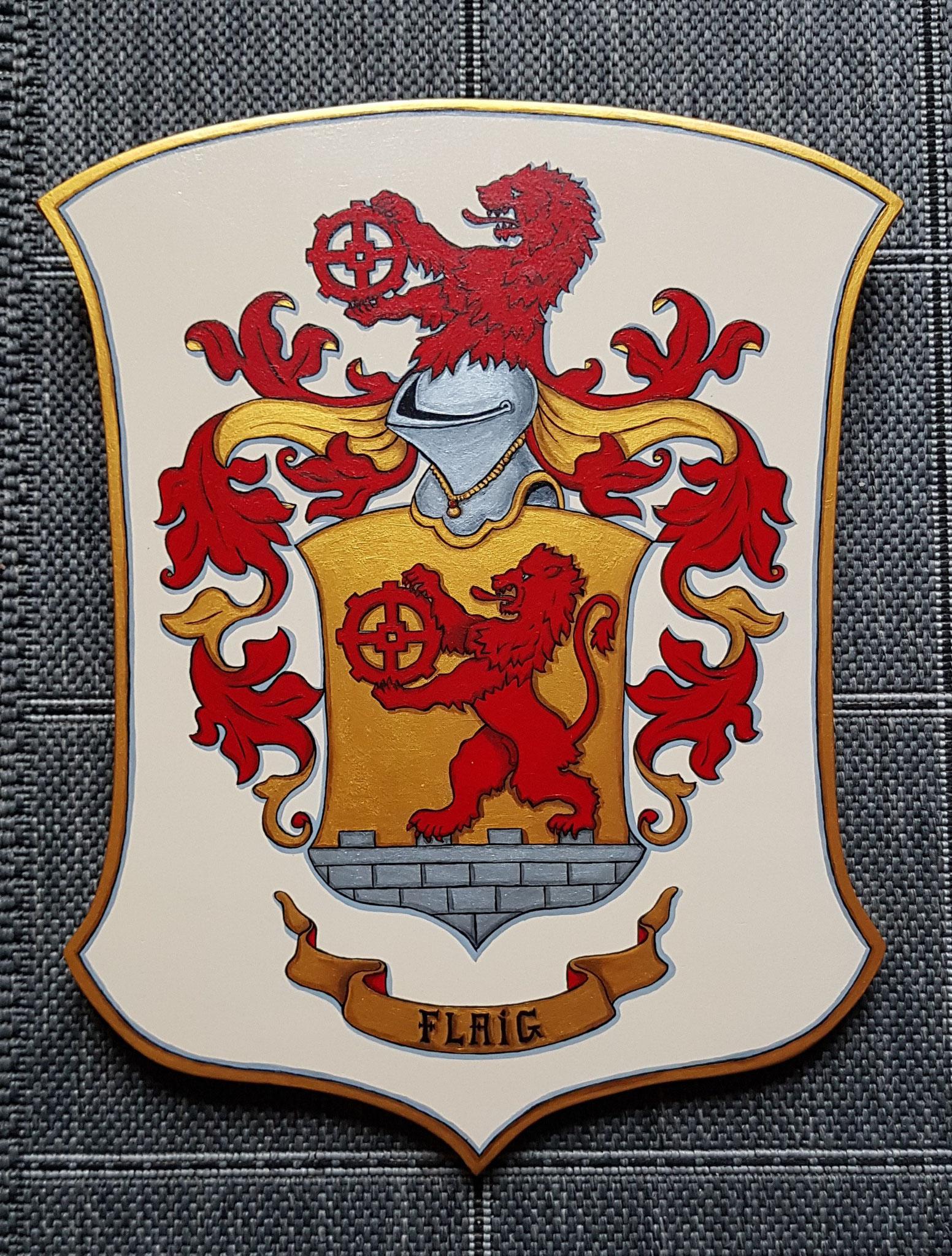 Armoiries de Famille 30x38 cm