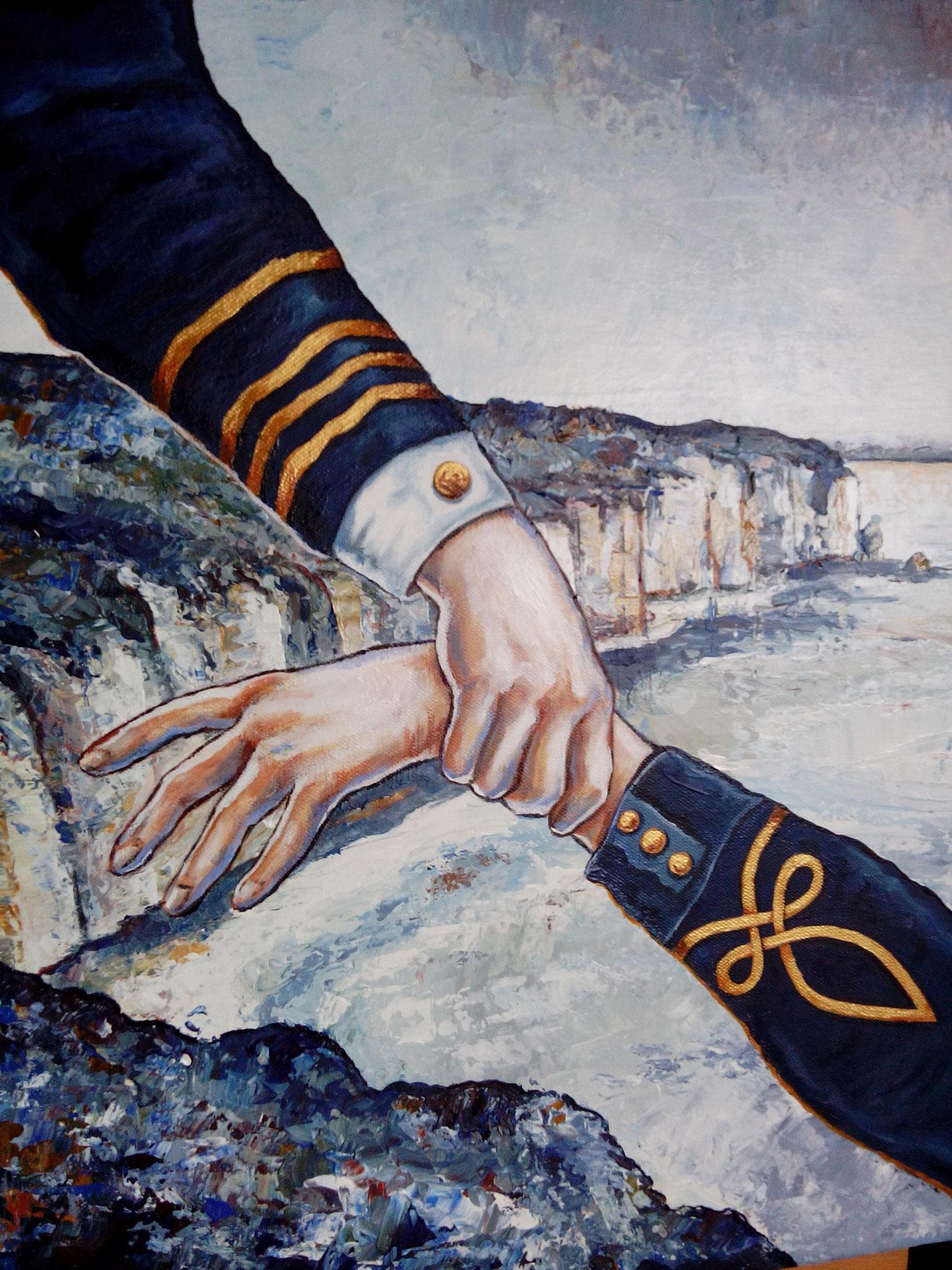 Le soutien des Officiers 50 x 50 cm Acrylique