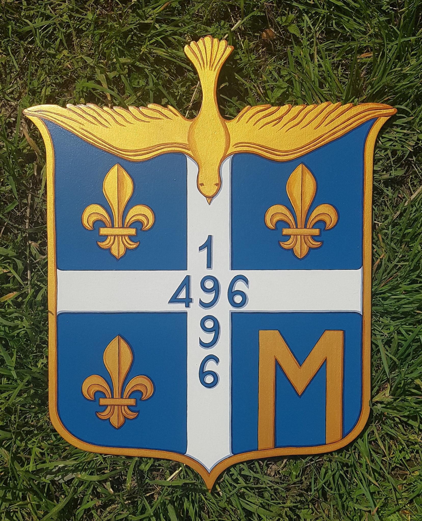 Armoiries anciennes Clovis/France 30x38 cm