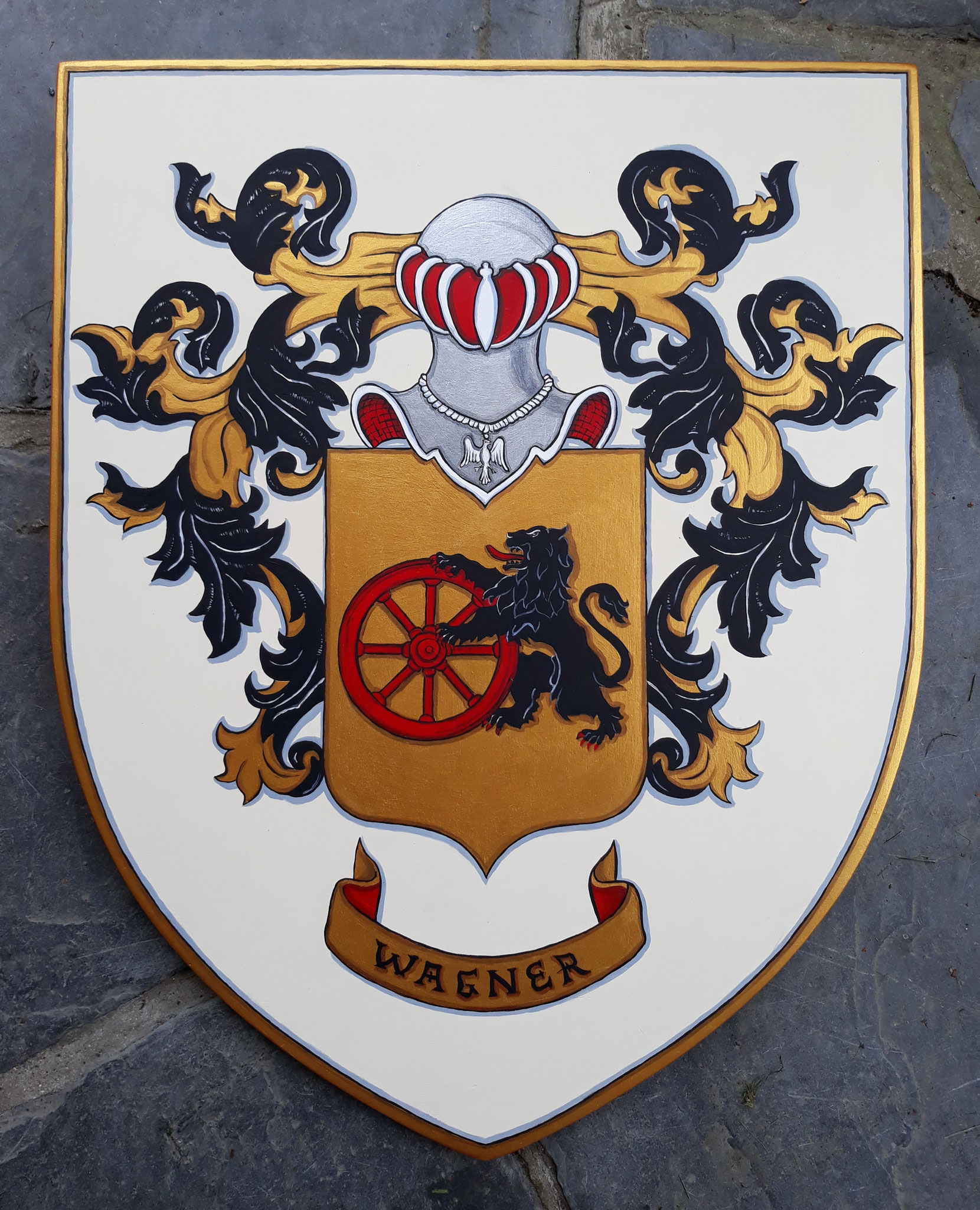 Armoiries de famille 40x50 cm