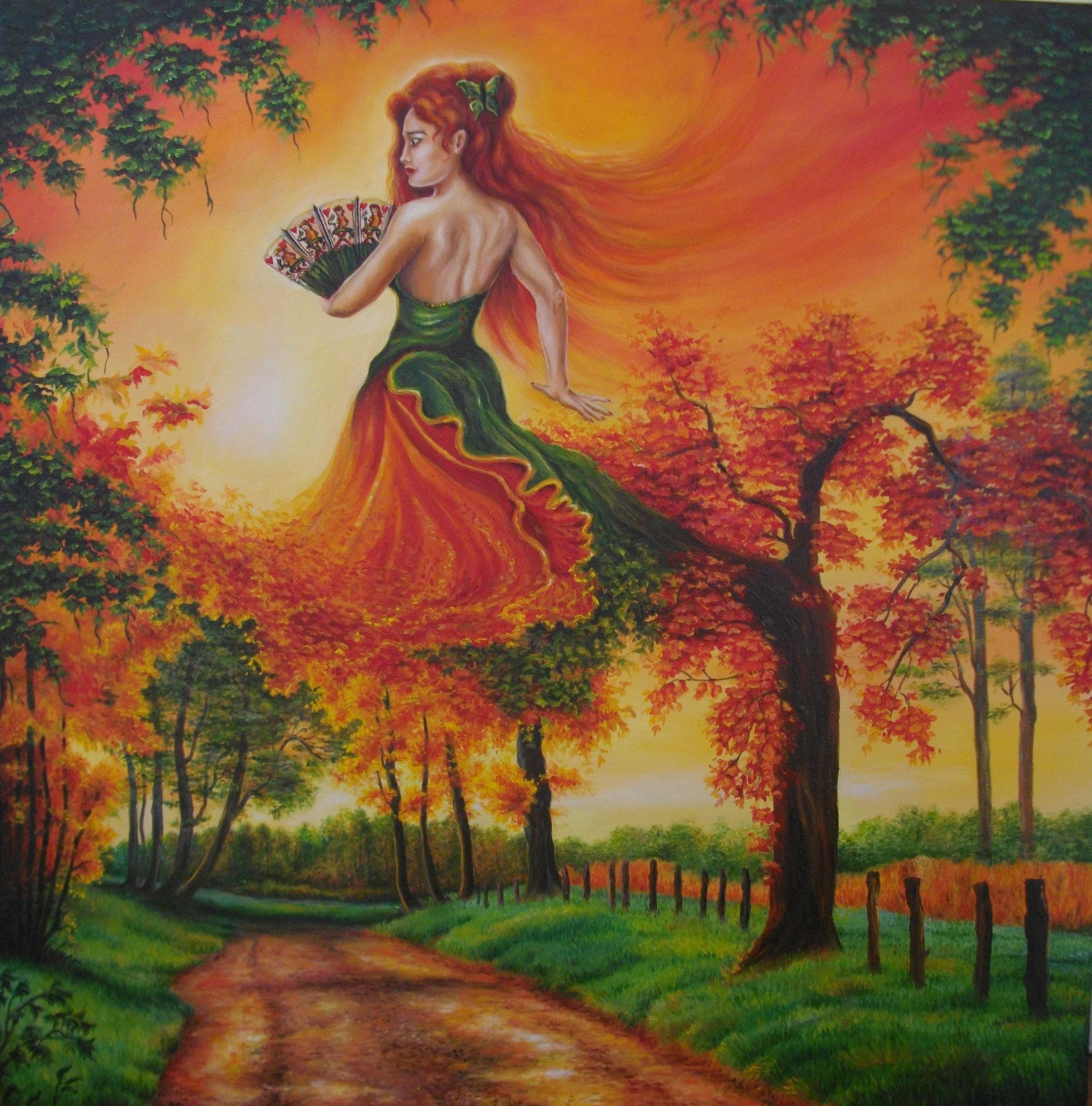 La Danseuse d' Octobre. Huile