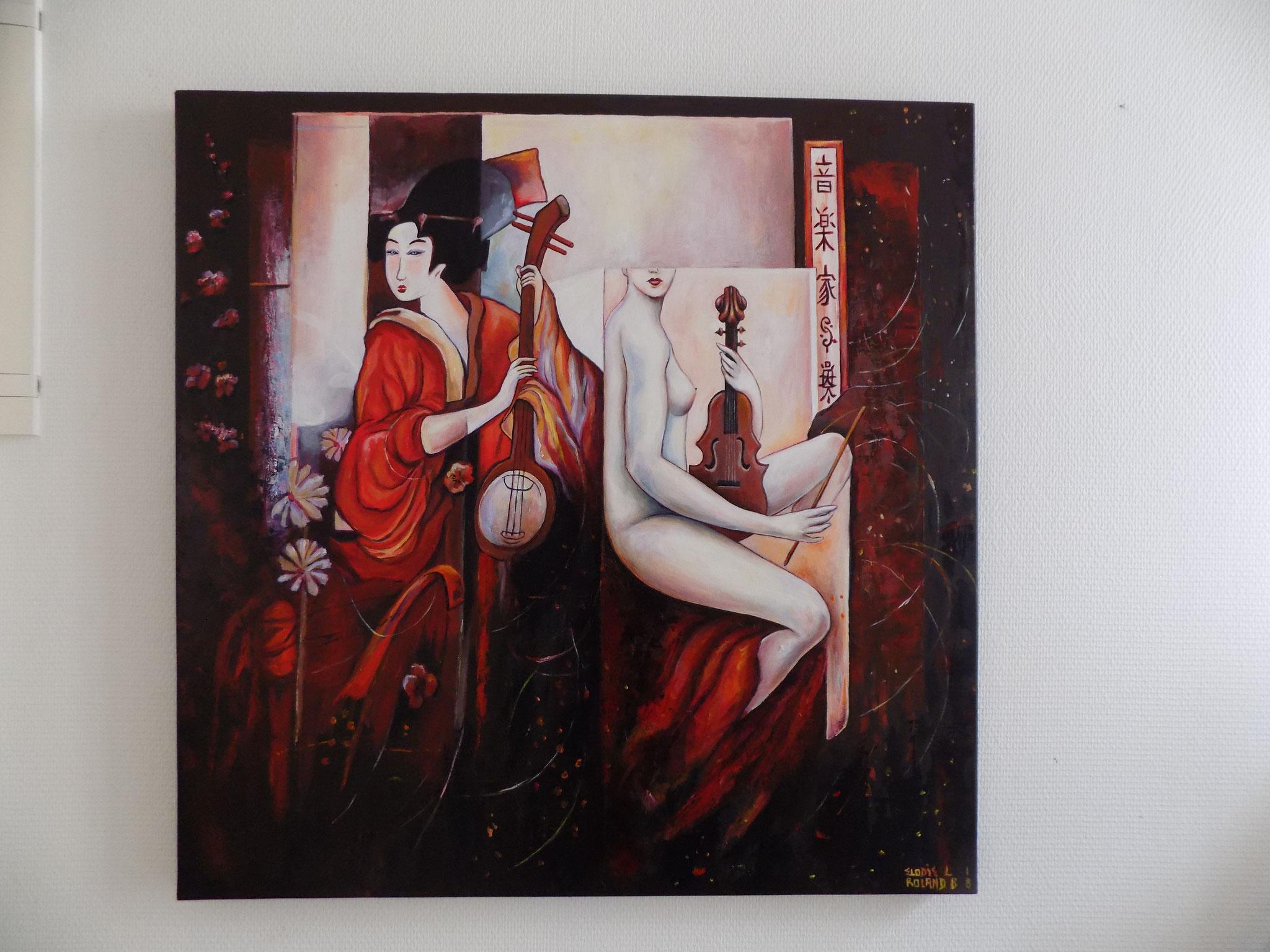 Japonisan Acrylique 80 x 80 cm