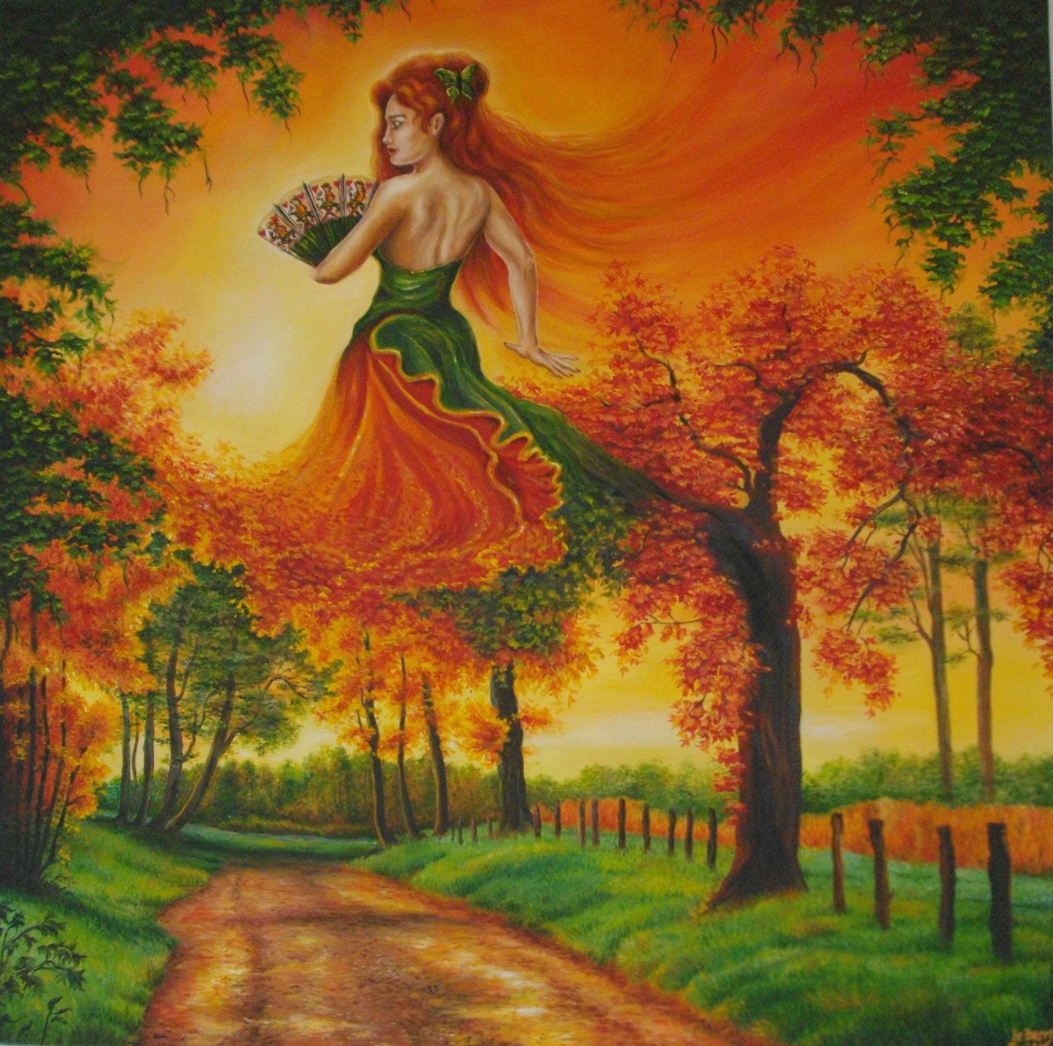 La Danseuse d'octobre huile