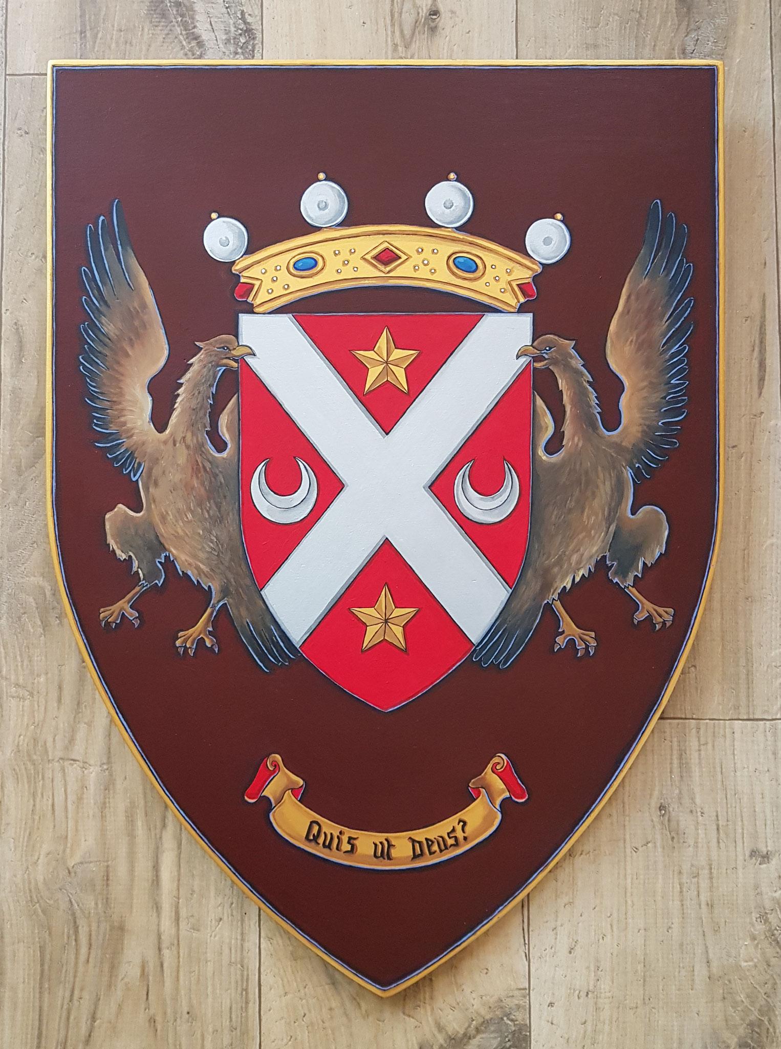Armoiries de famille 50x65 cm
