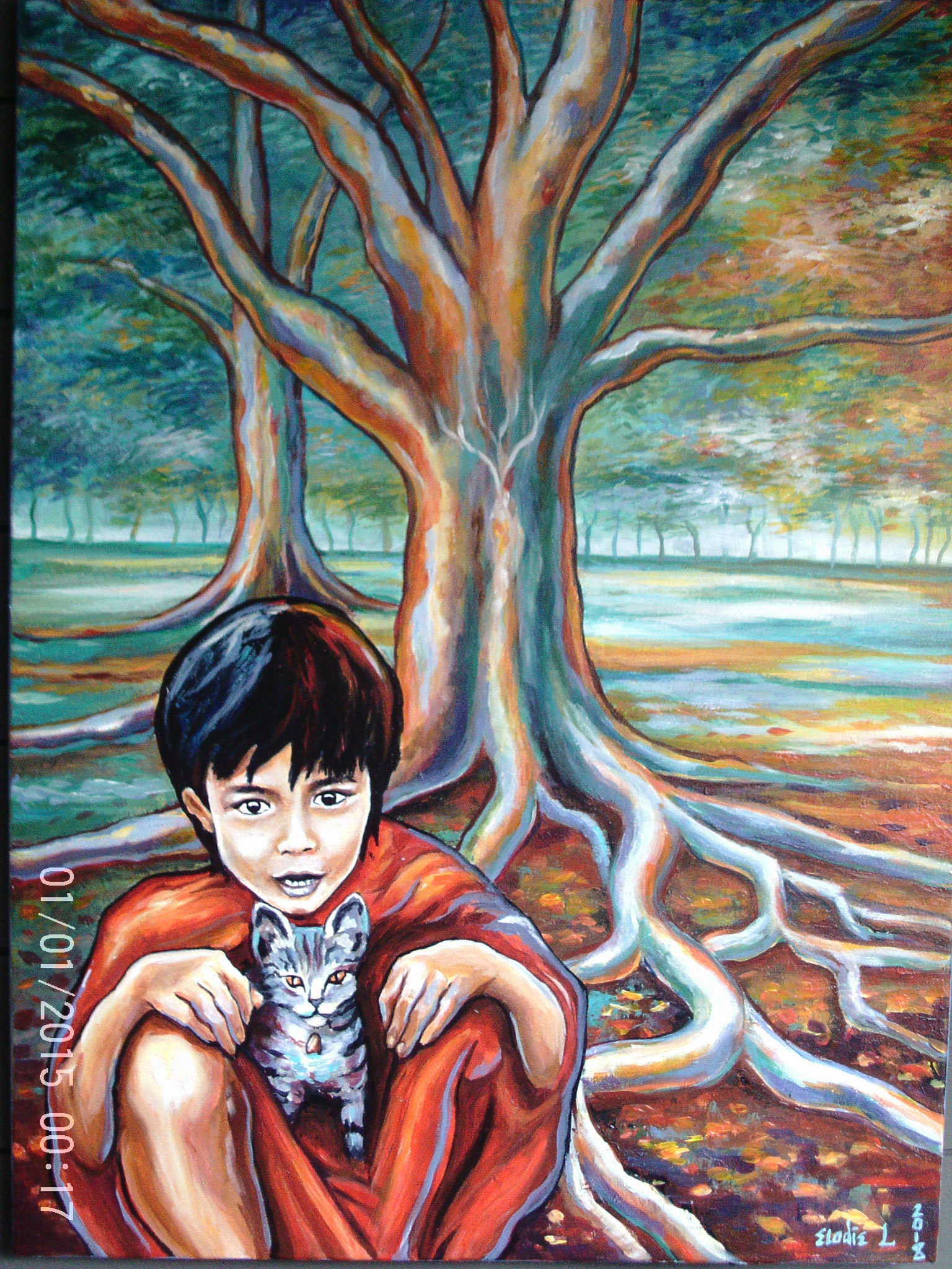 L' Enfant bouddhiste sous l'arbre