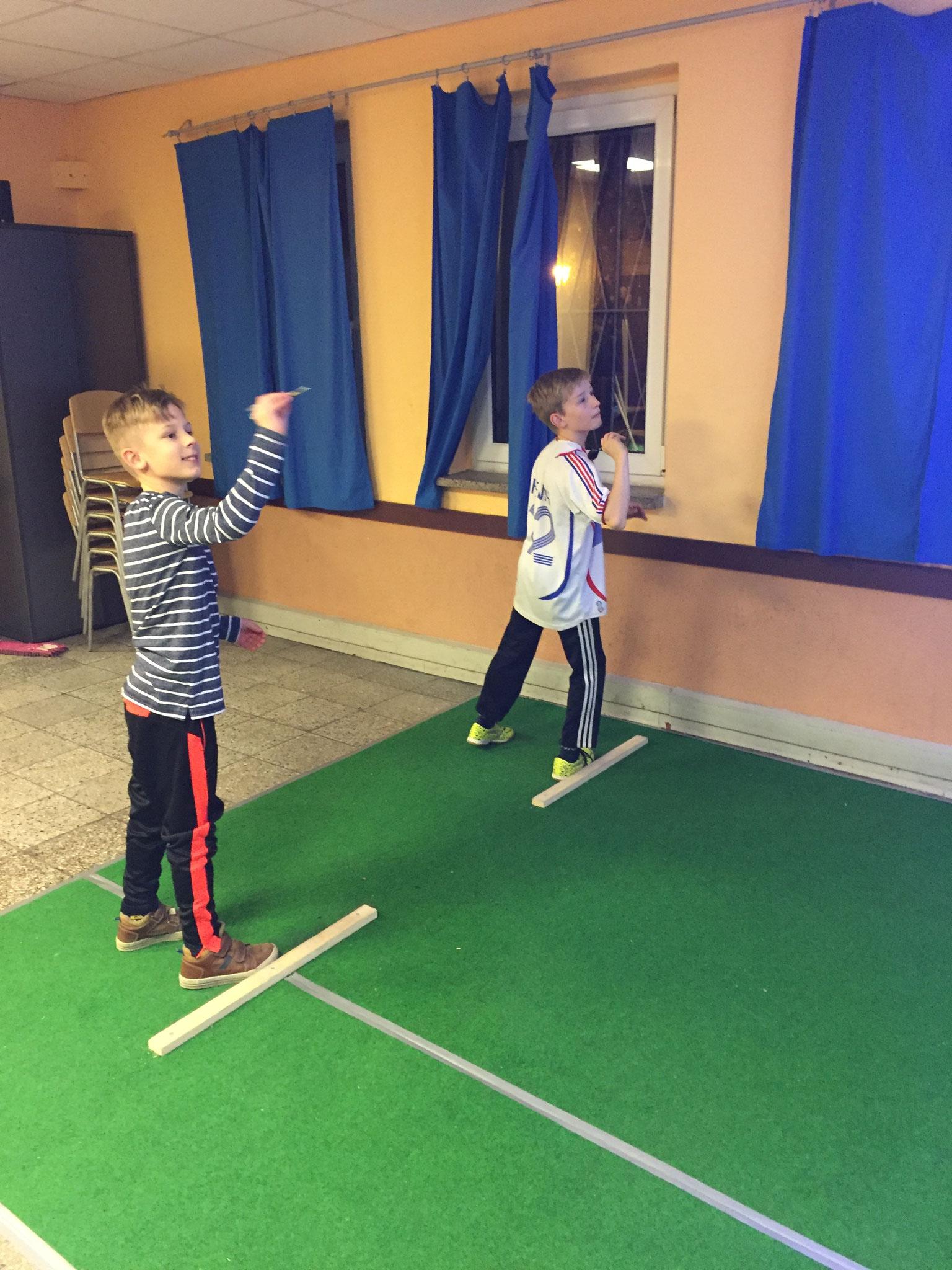 unsere beiden Jüngsten beim Training