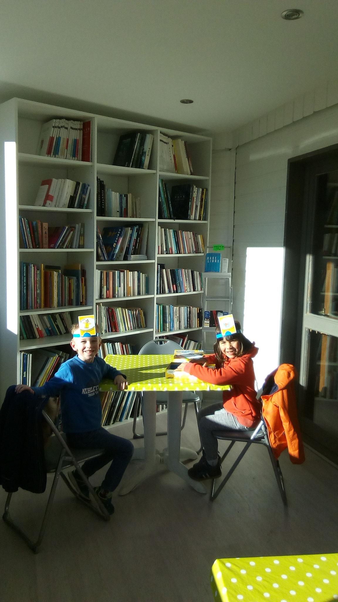 La bibliothèque du village de vacances les 4 chemins