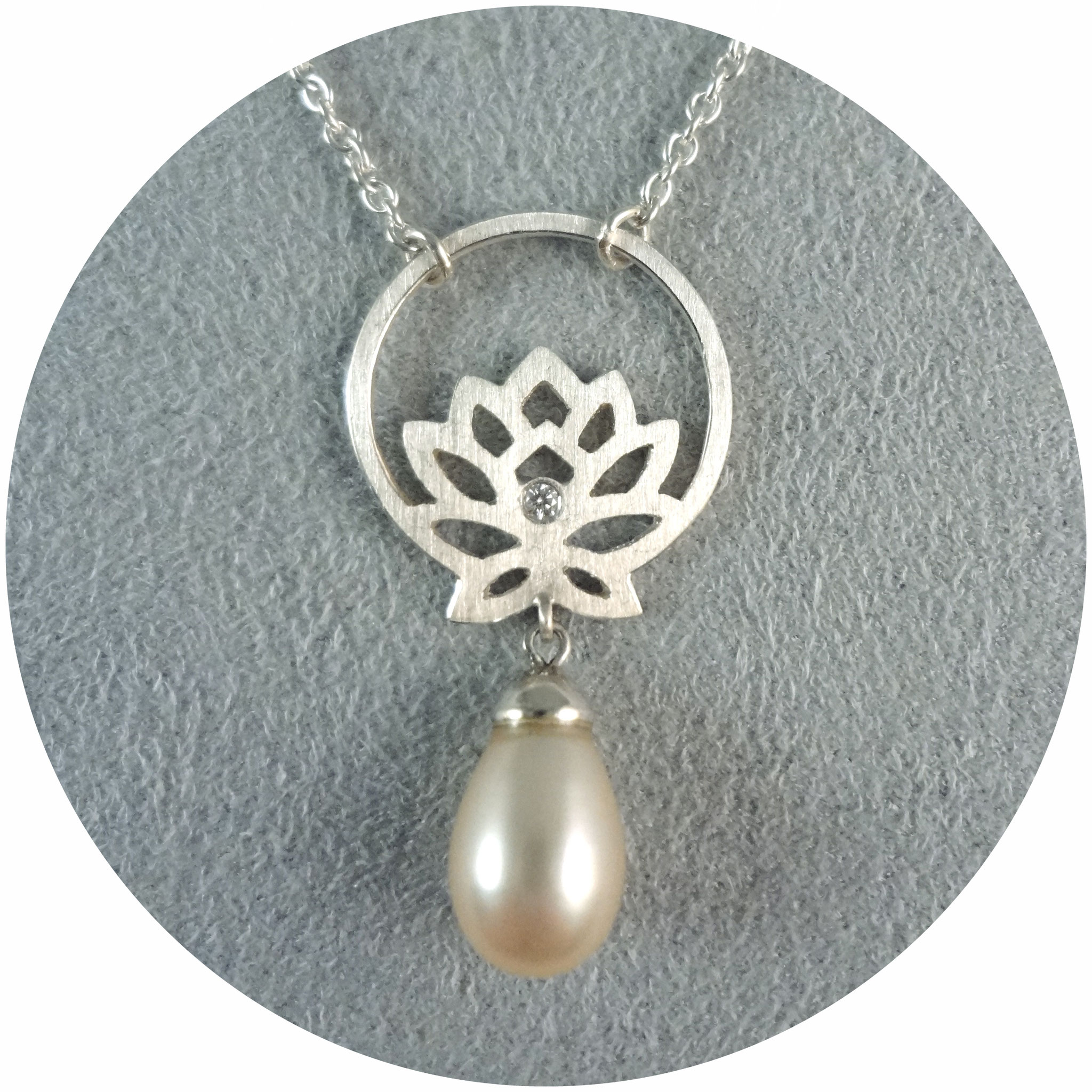 """Collier """"Beauty Within"""", 925/- Silber, Perle"""