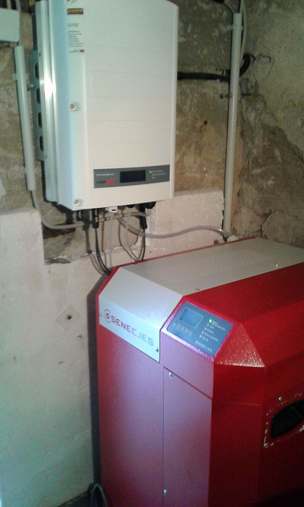 4 kW Pb Senec Speicher in Bernöwe bei Oranienburg in Kombination mit einer Solarwatt PV-Anlage