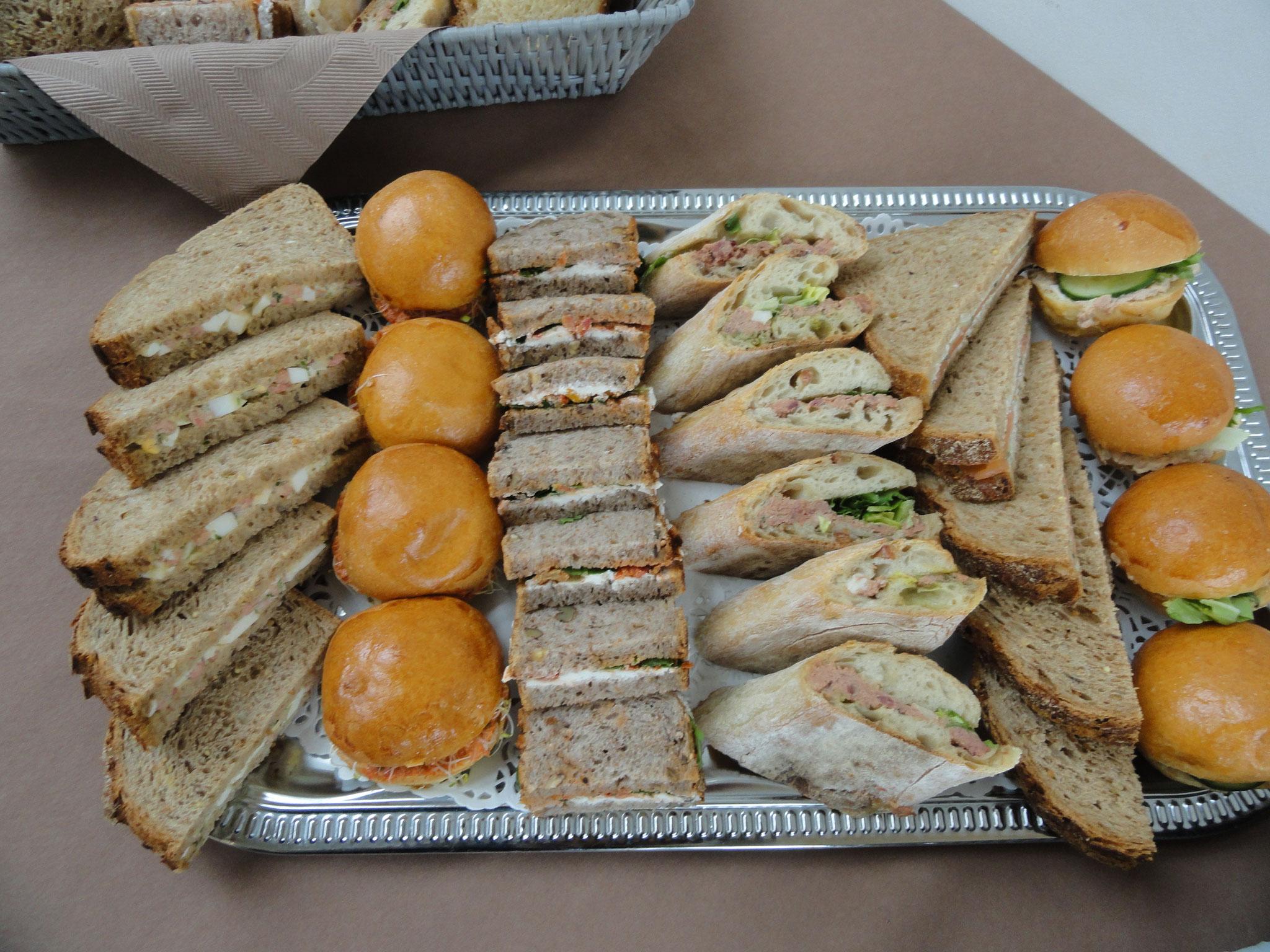 Sandwiches garnis