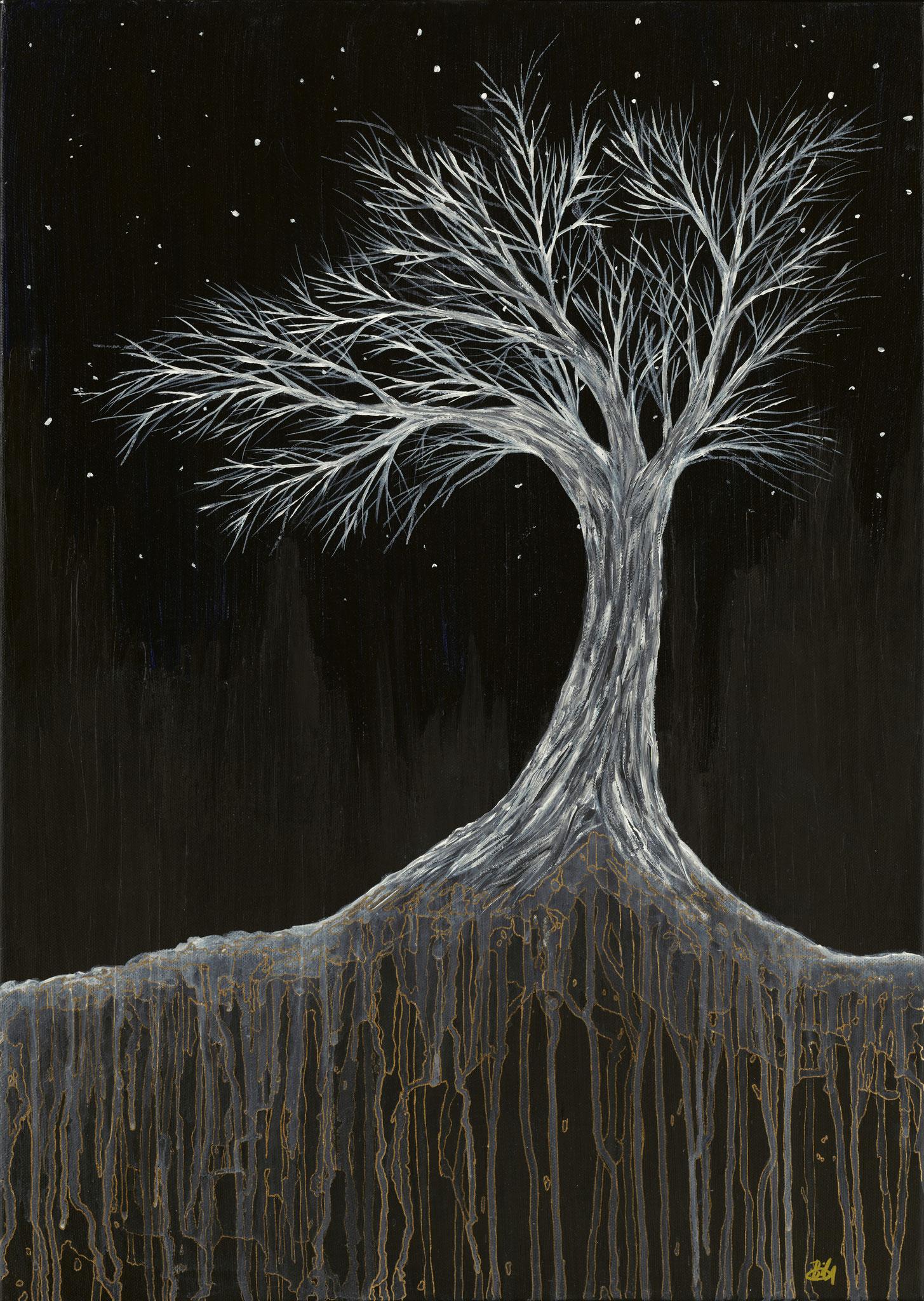 Naturgewalt (2014). 70 x 50 cm.