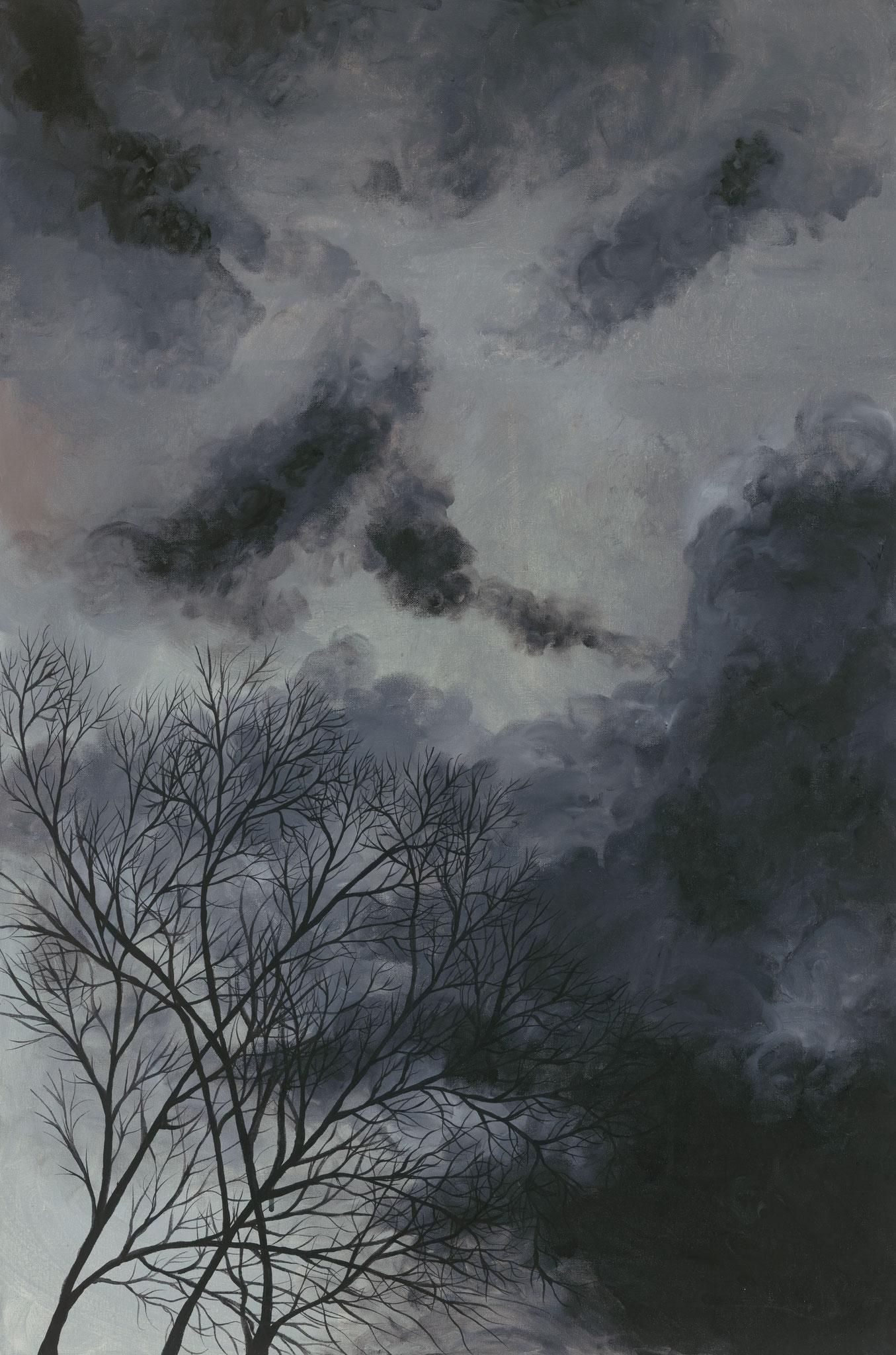 Inneres Unwetter (2017). 90 x 60 cm.