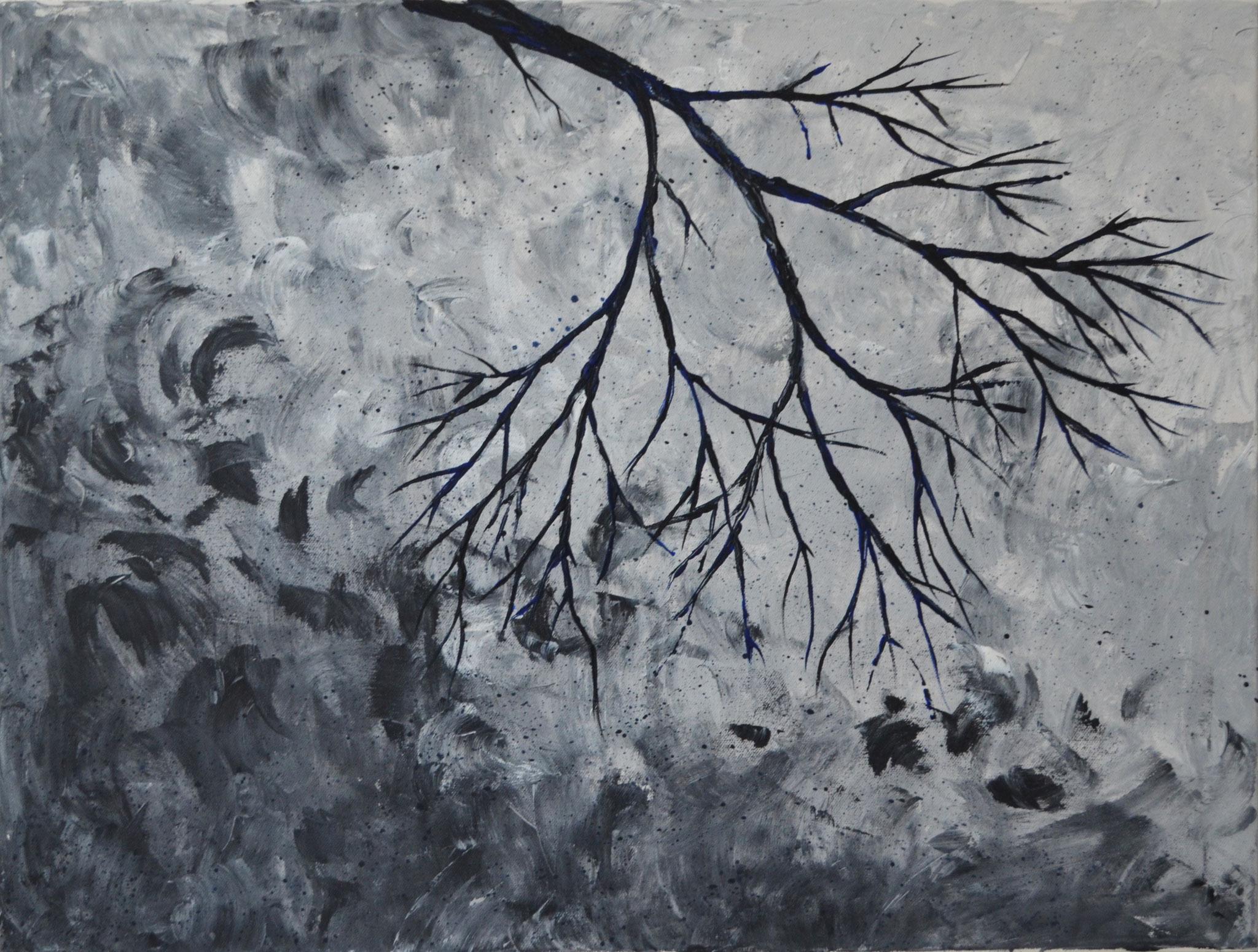 Wildes Geäst (2016). 80 x 60 cm.