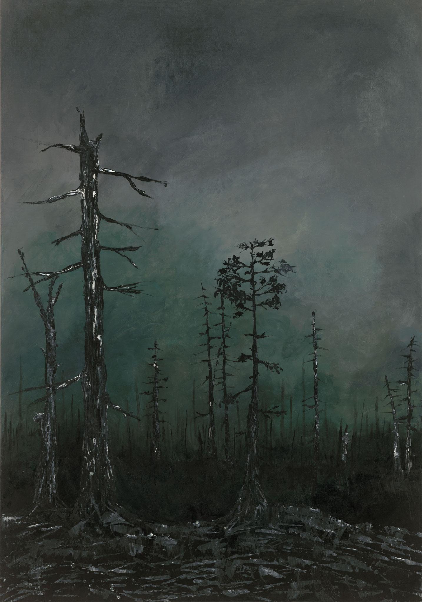 Grüner Horizont (2018). 100 cm x 70 cm.
