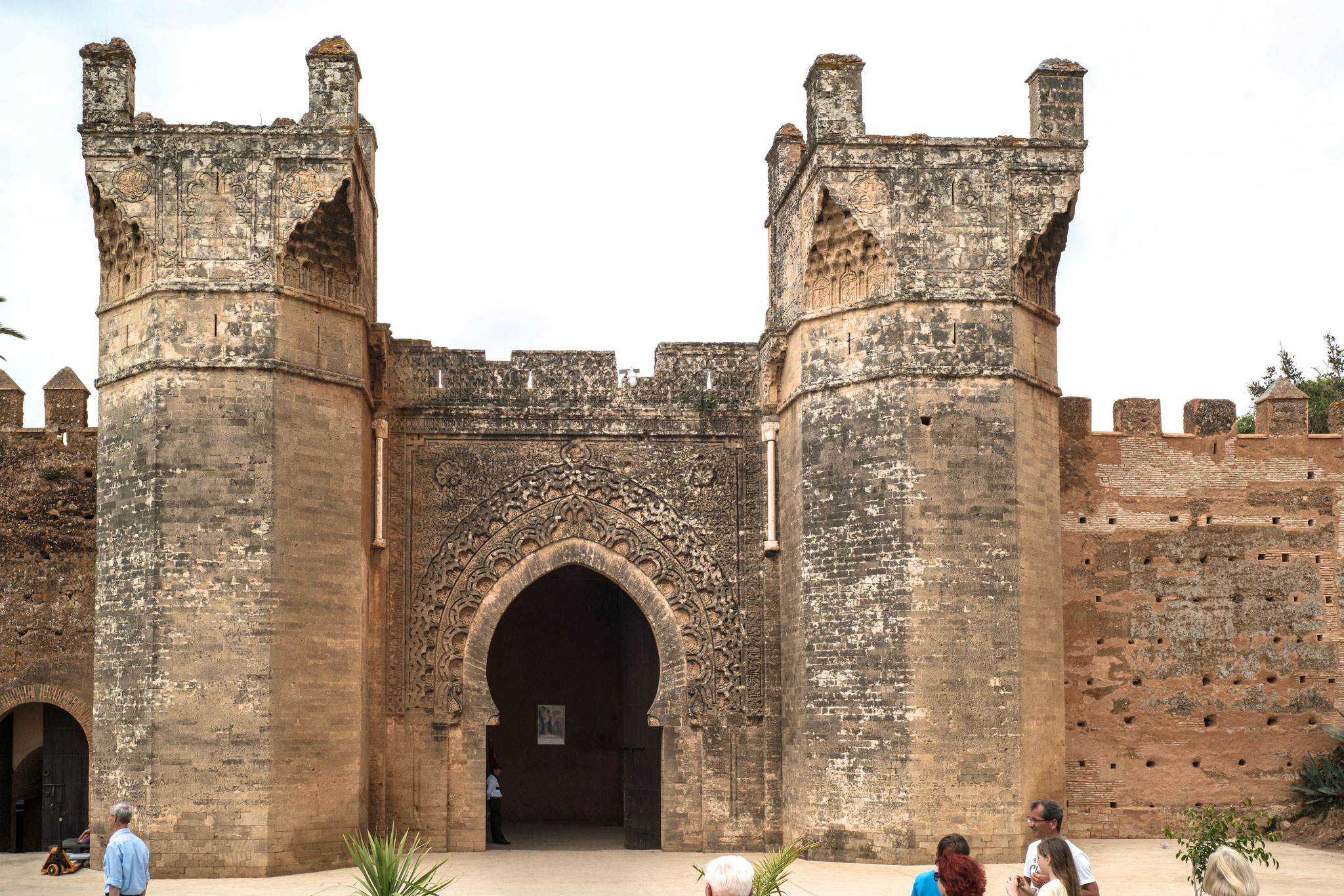 Kasbah des Oudaias, Haupttor über der Place Souk El Chezel, Rabat.