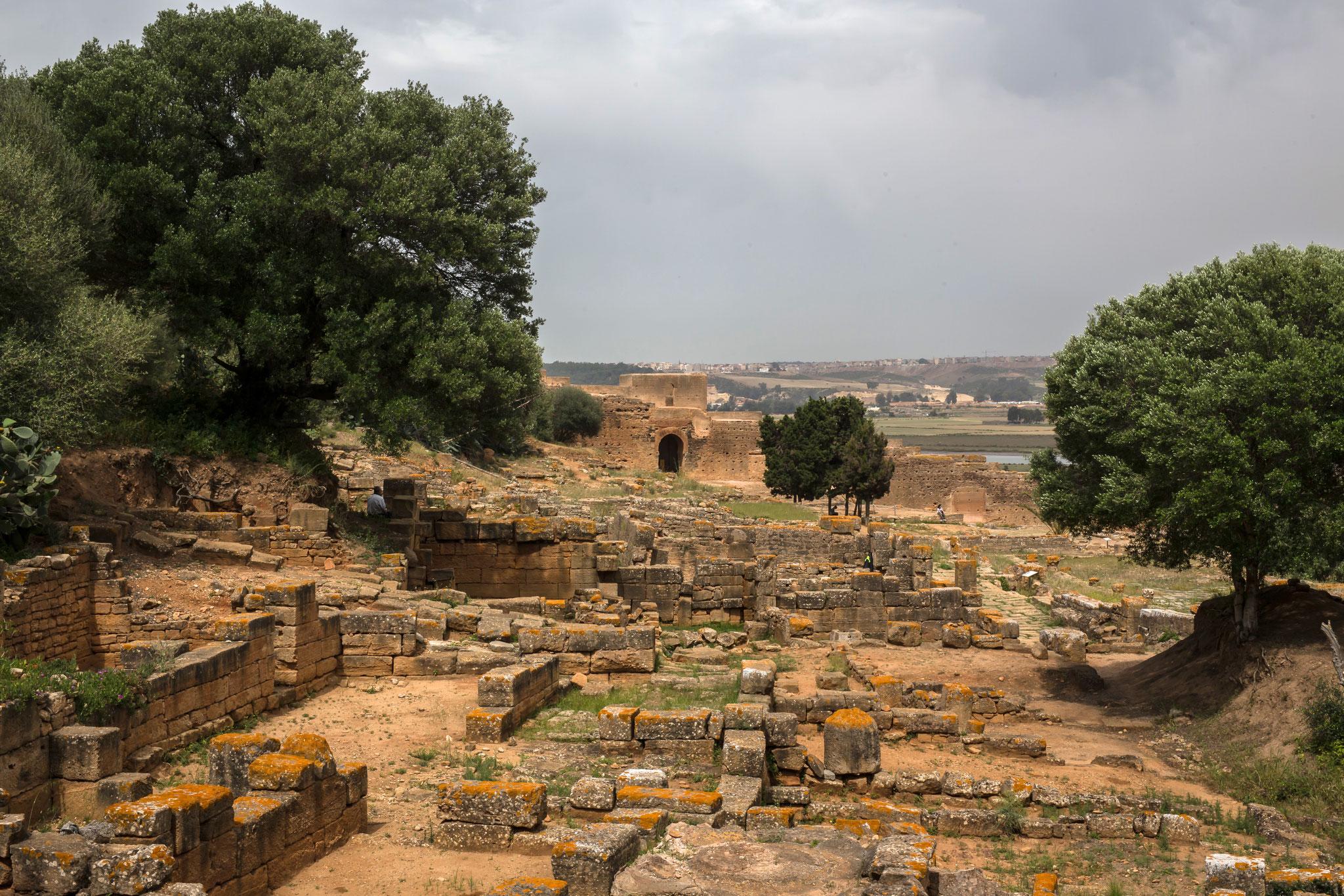 Rabat. Chellah, Ausgrabungen der römischen Handelskantorei.