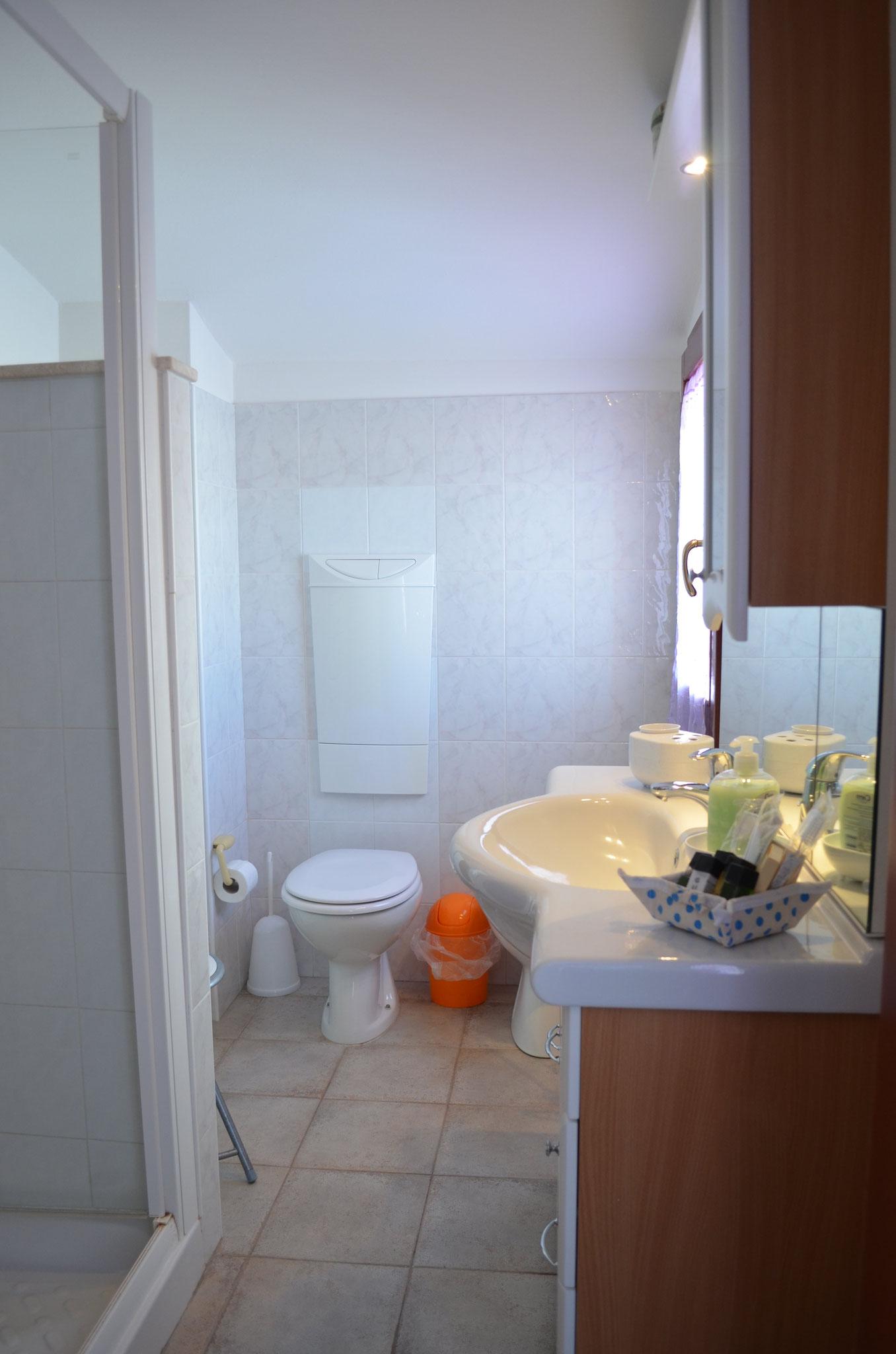 """Salle de bains de la chambre """"Le Belvédère"""""""