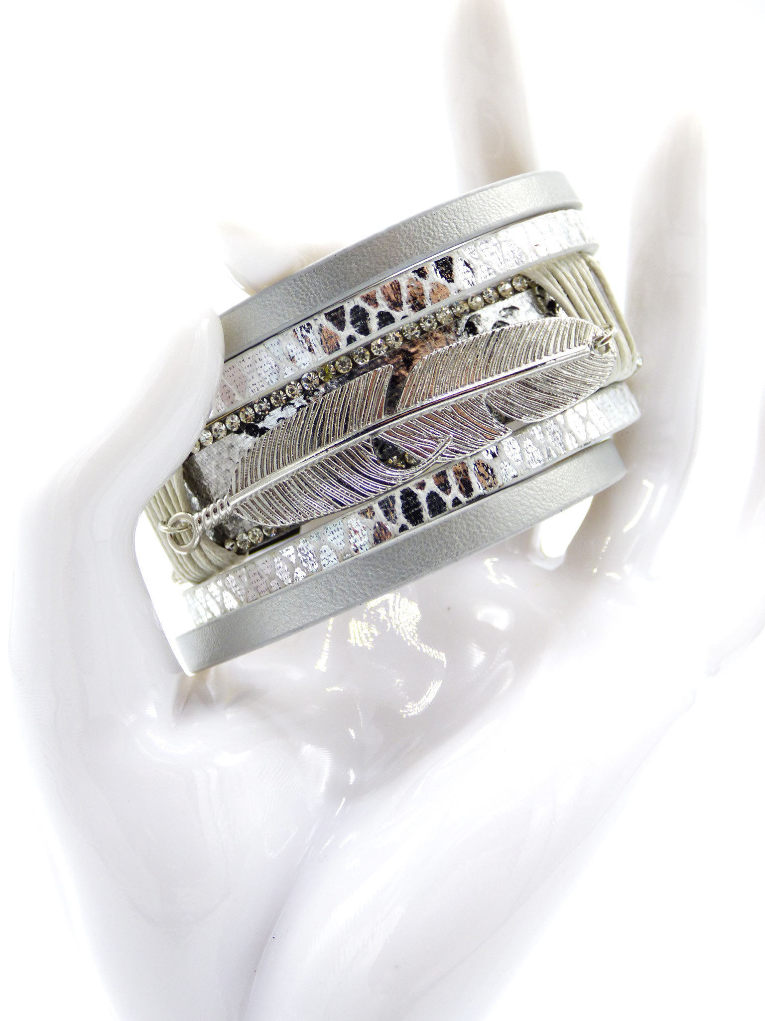 Bracelet Femme Glamour Silver