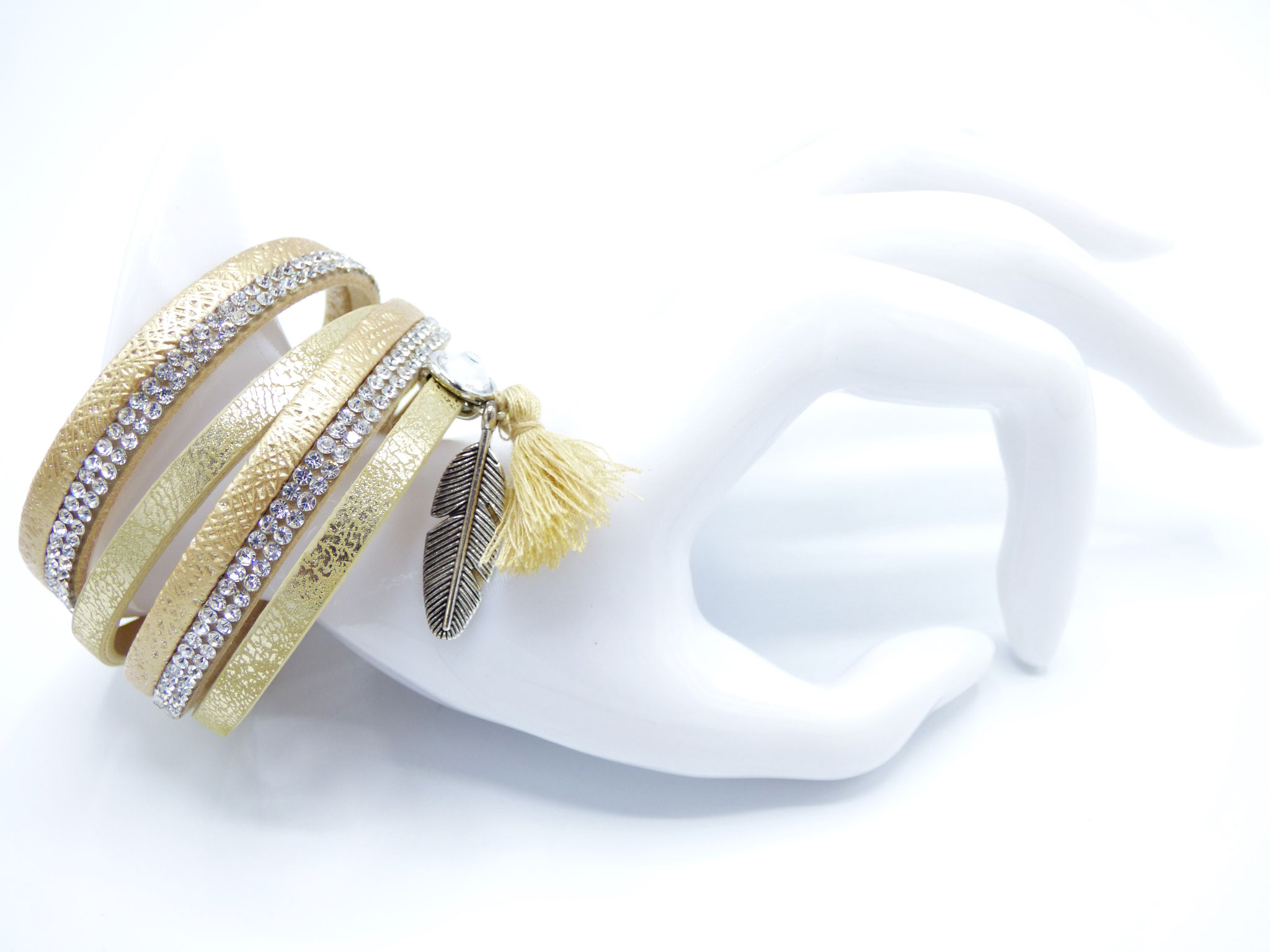 Bracelet Femme Love Bohéme Doré