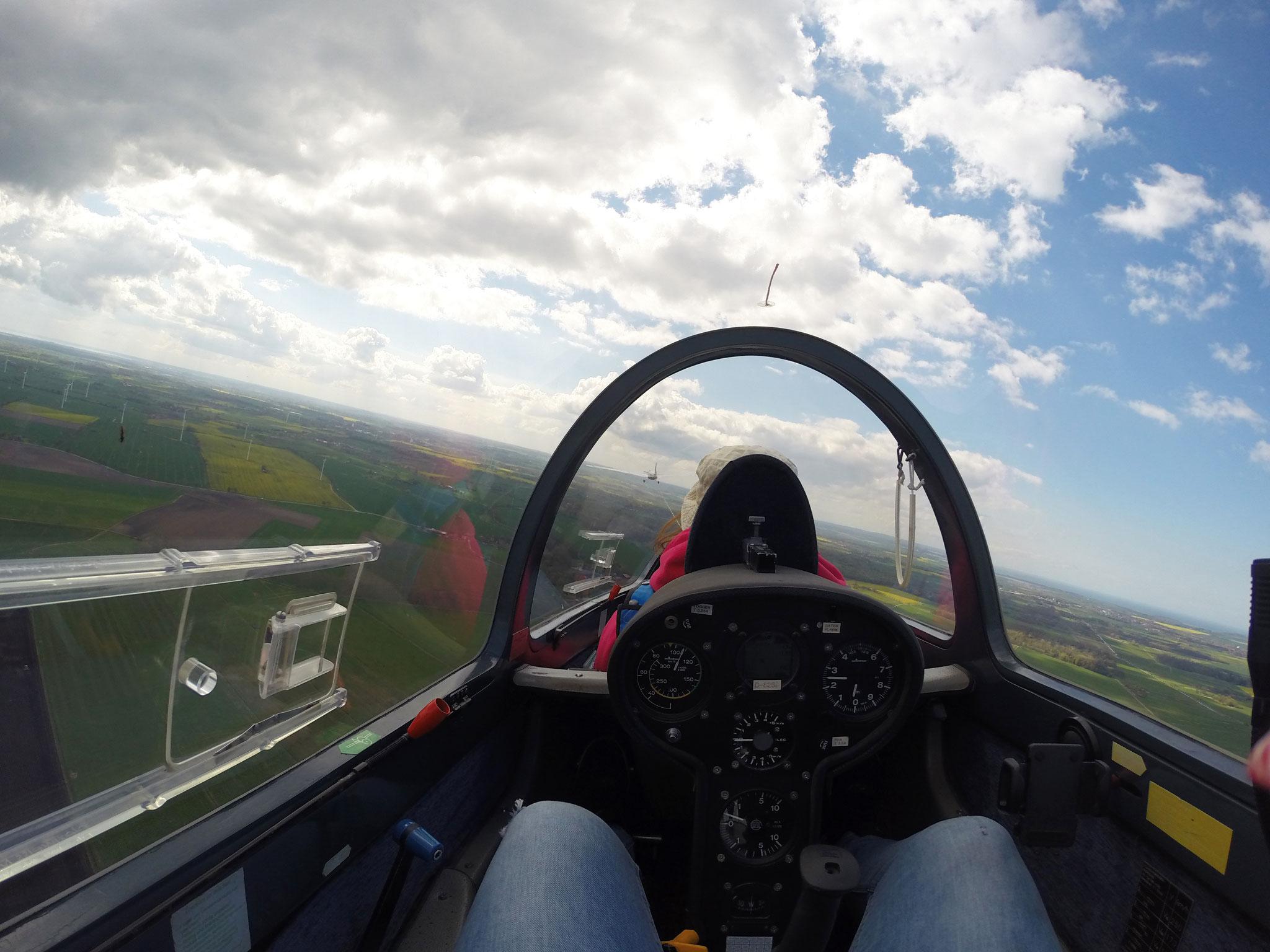 Aus dem Cockpit