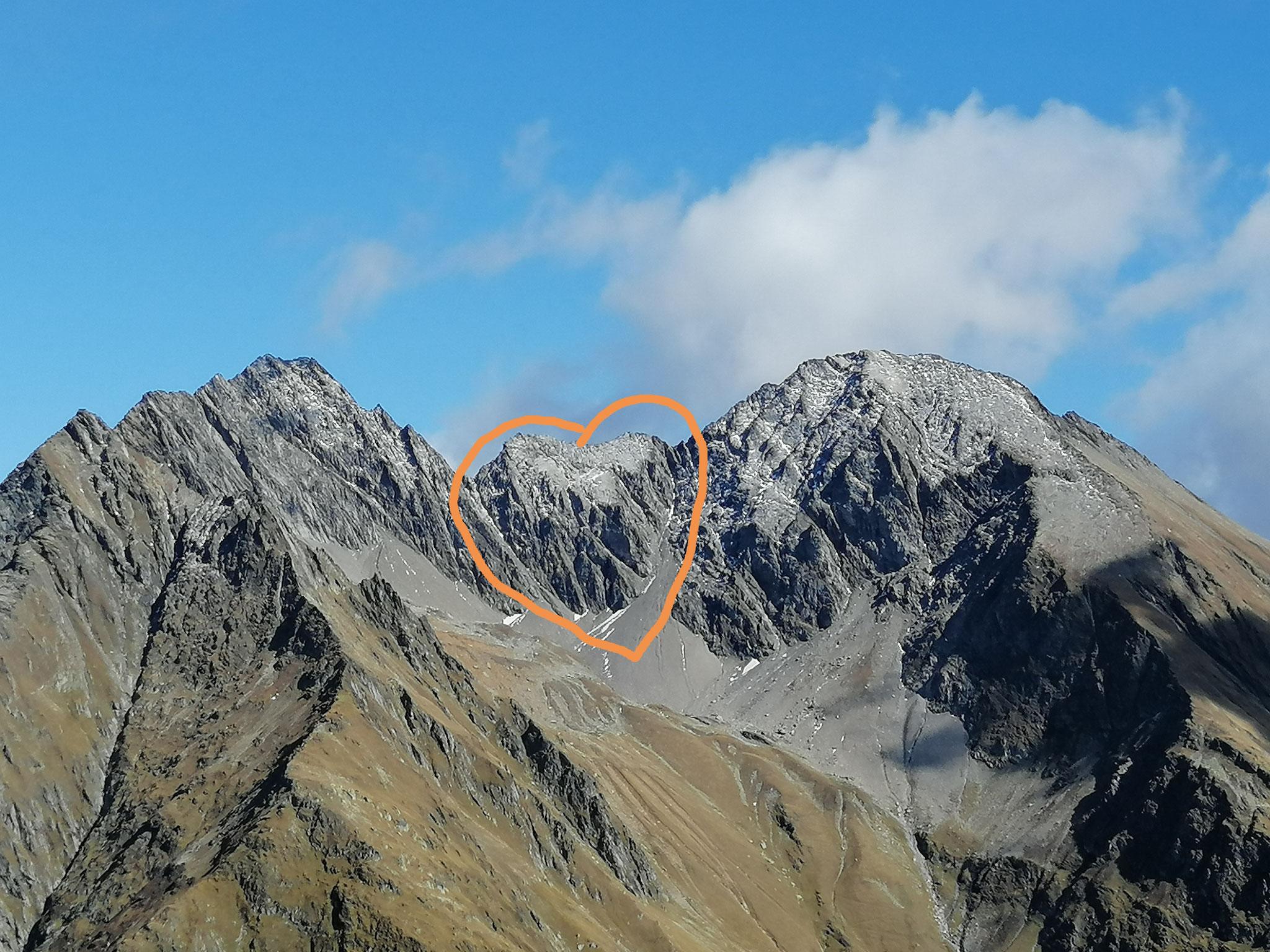 Herz gefunden im Berg