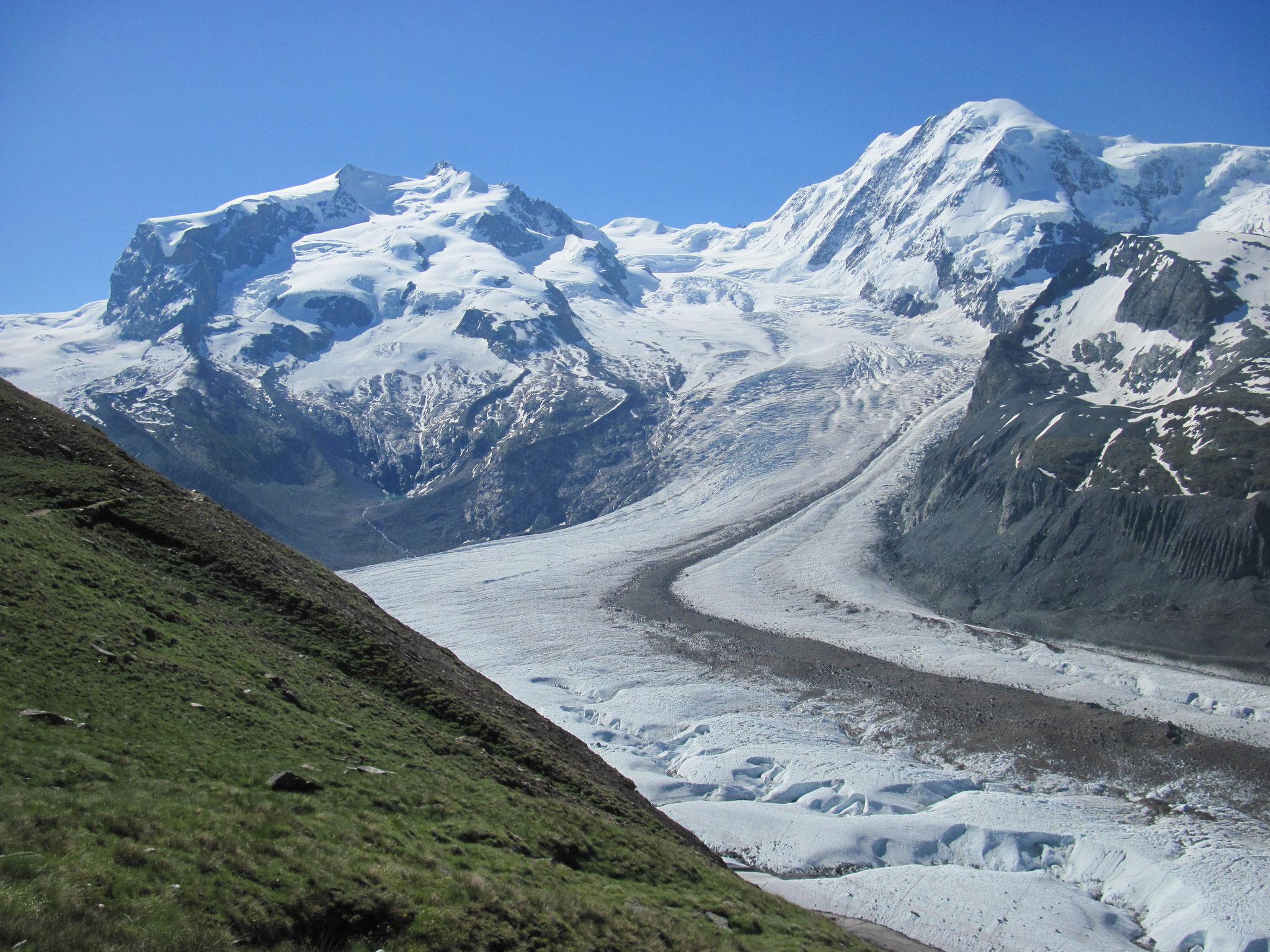 Monte Rosa und Lyskamm mit Gornergletscher
