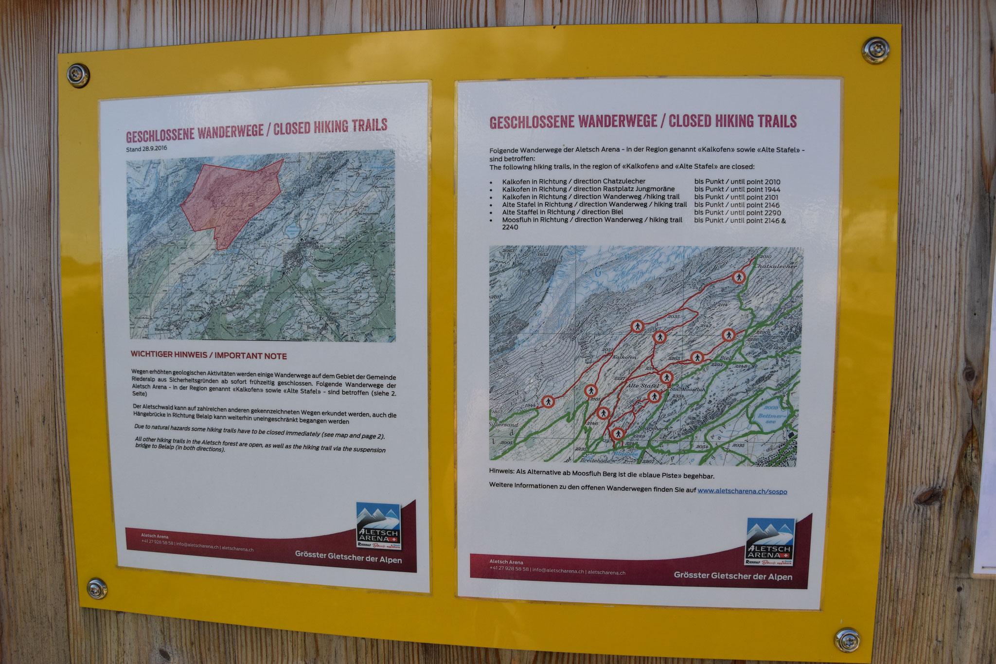 Geologische Bewegungen im Aletschgebiet