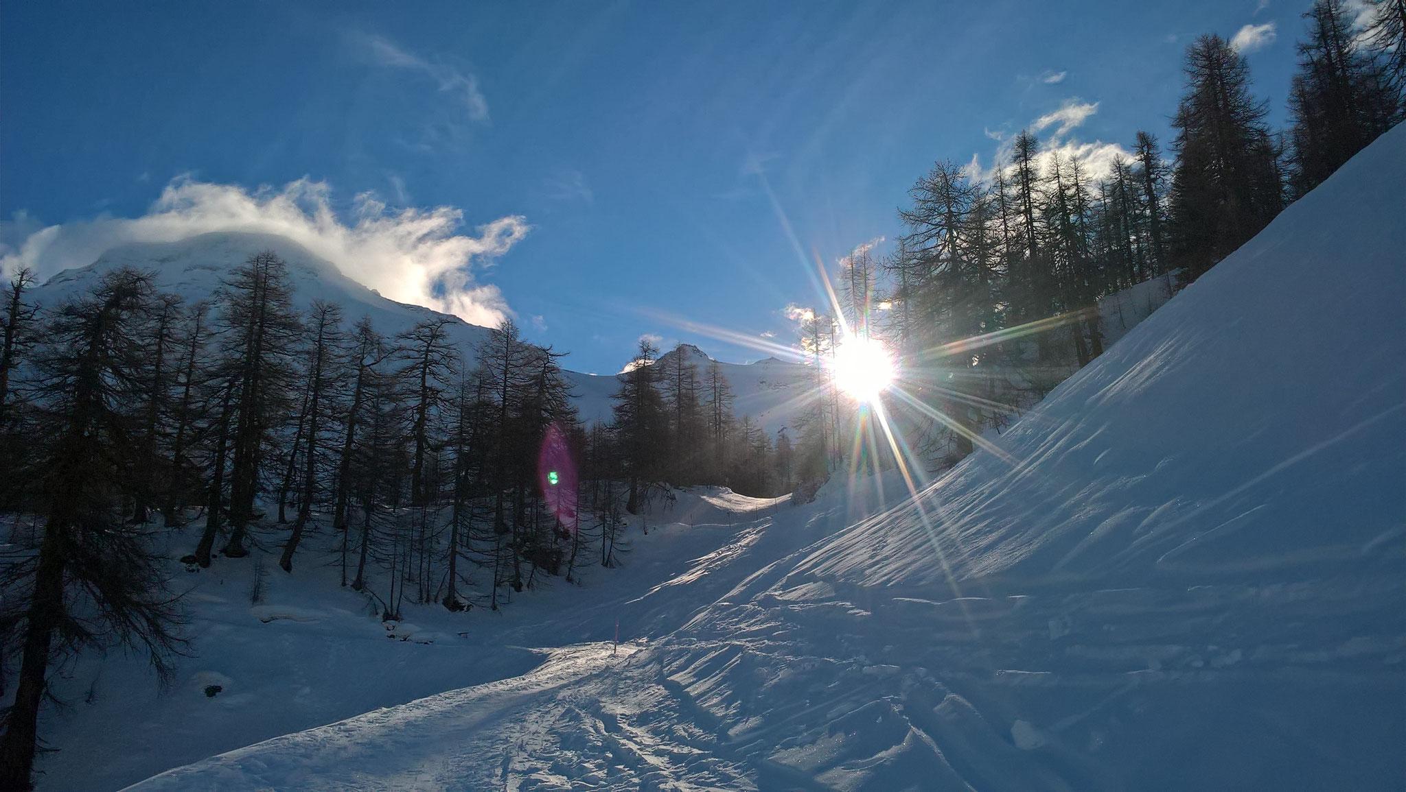 Versteckspiel mit der Sonne