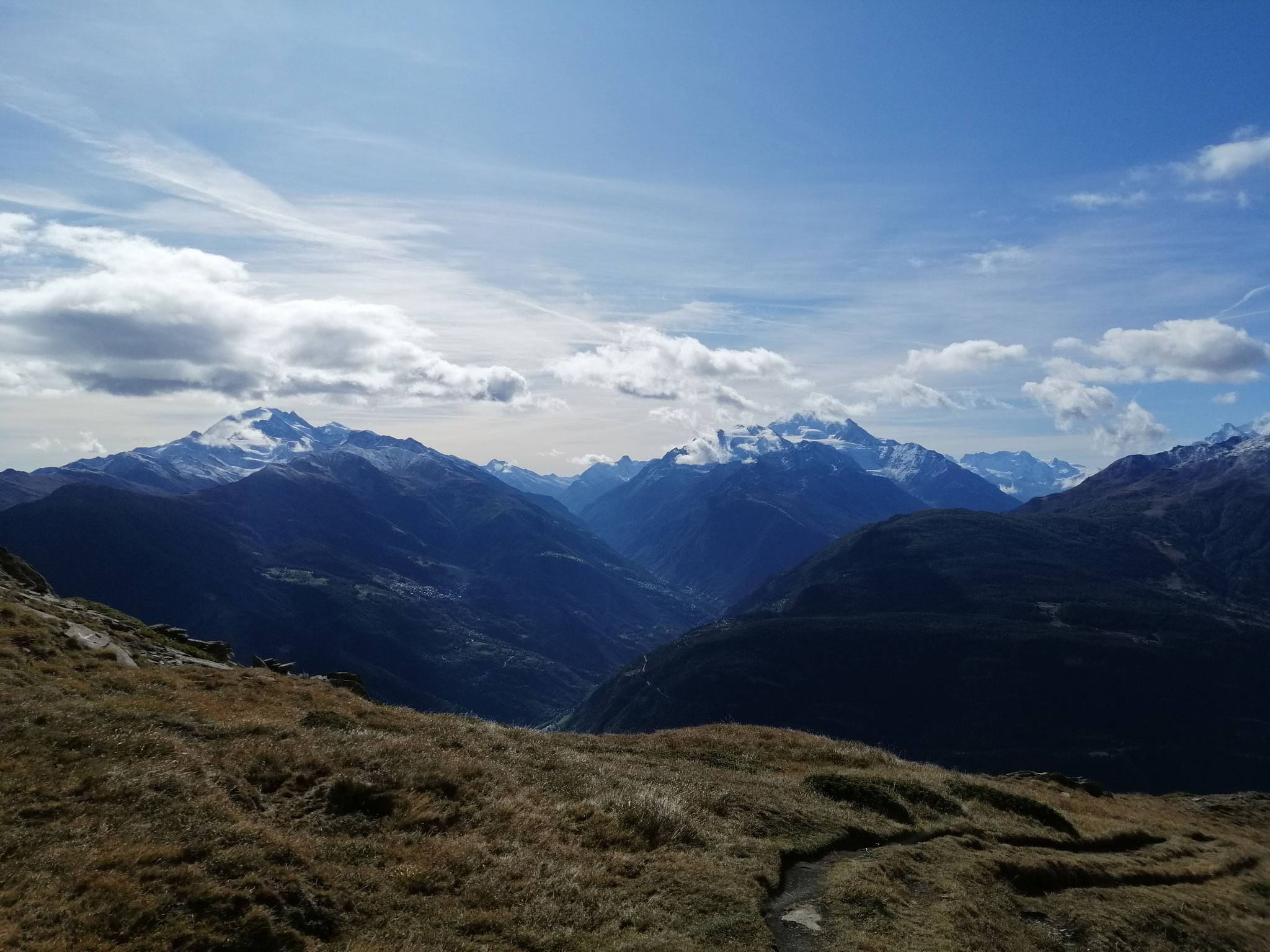 Ausblick Saas-und Mattertal