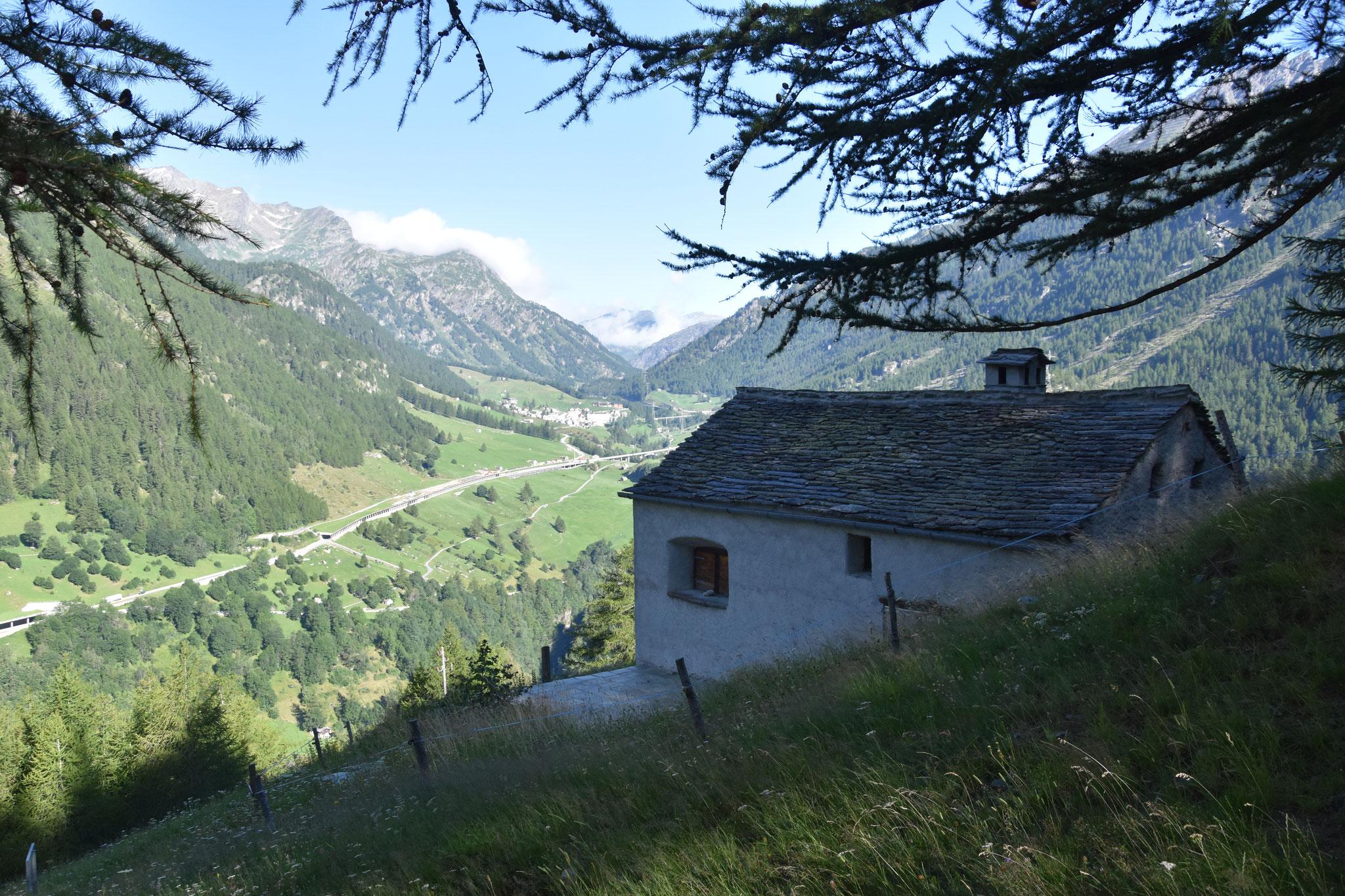 Blick nach Simplon Dorf